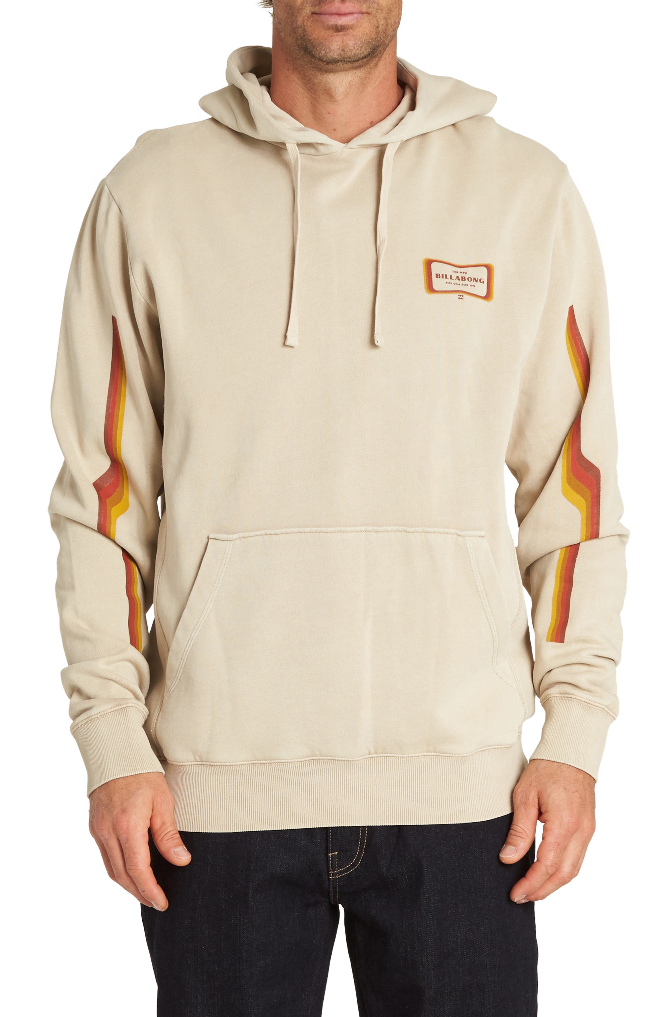 Wave Washed Graphic Hooded Sweatshirt,                         Main,                         color, CHINO