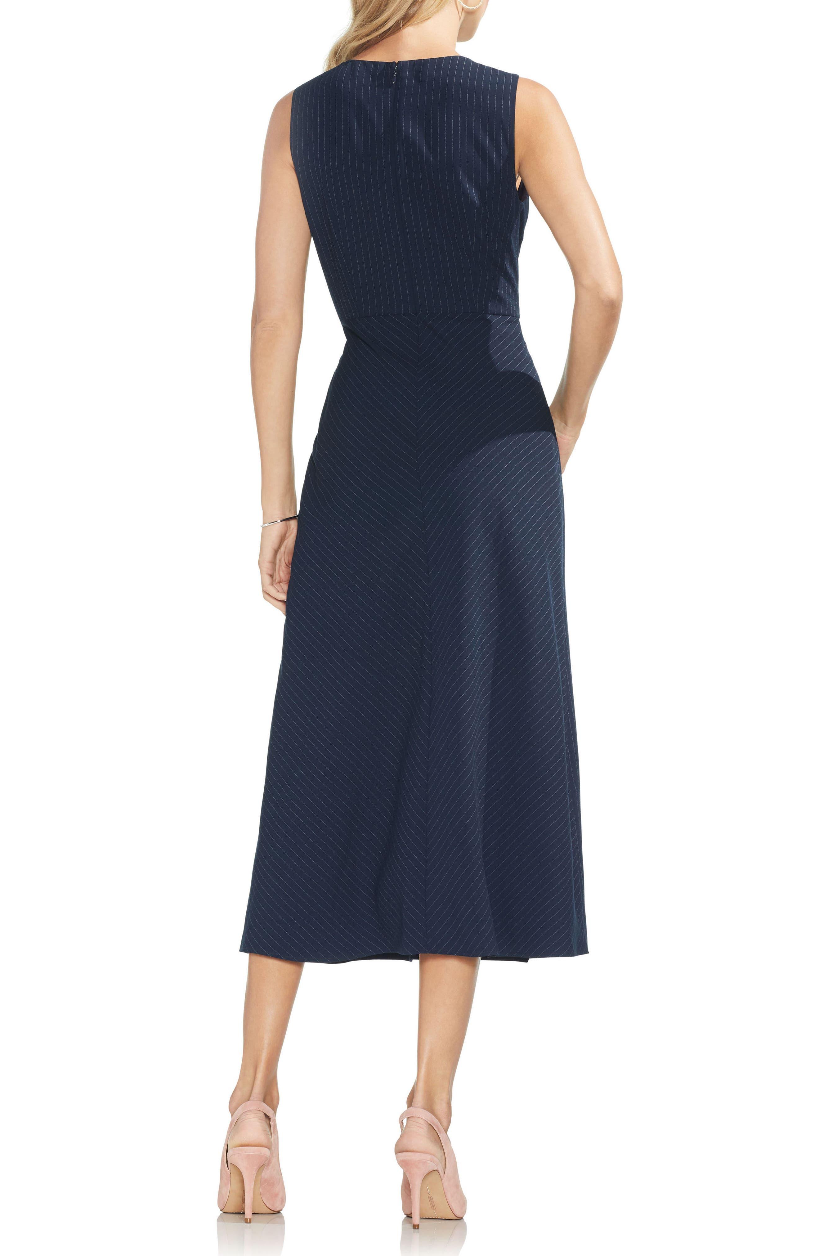 Soft Pinstripe Sleeveless Dress,                             Alternate thumbnail 2, color,                             407