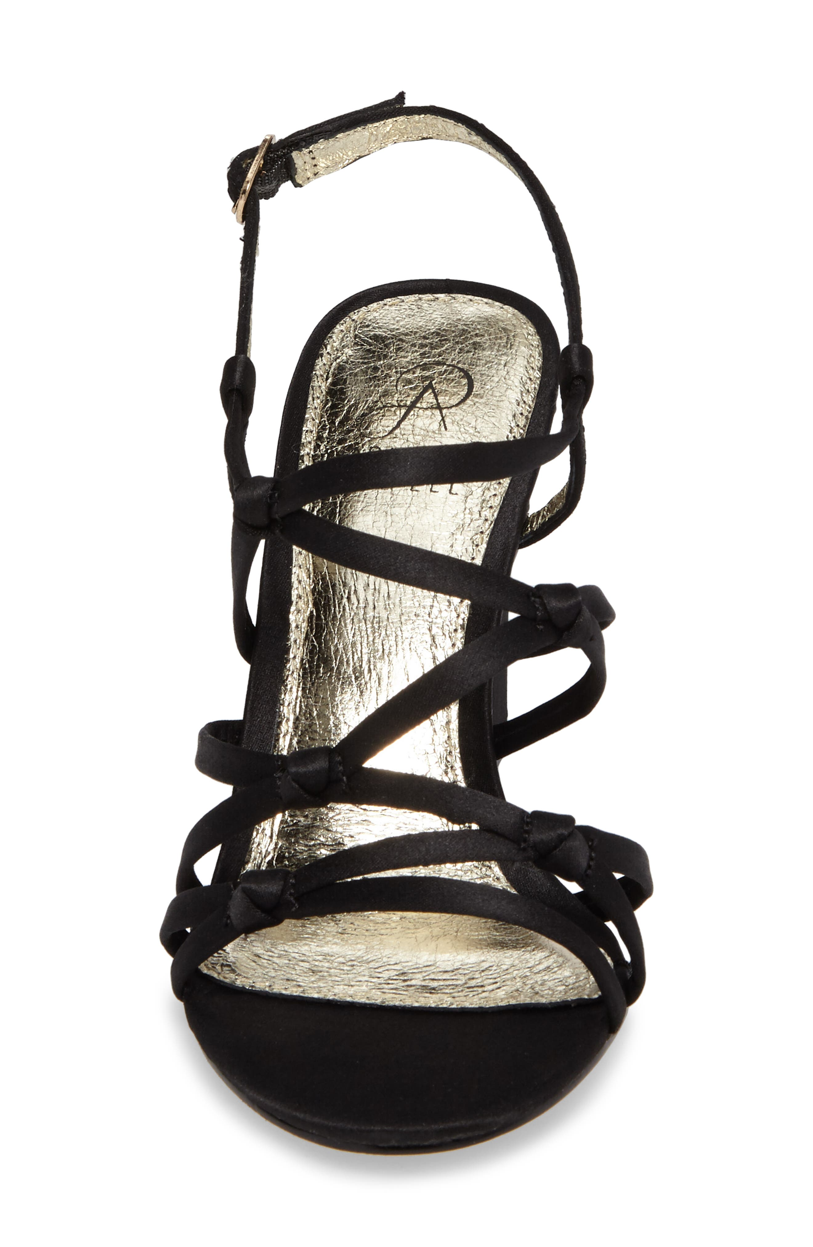 Adelson Knotted Strappy Sandal,                             Alternate thumbnail 4, color,                             001