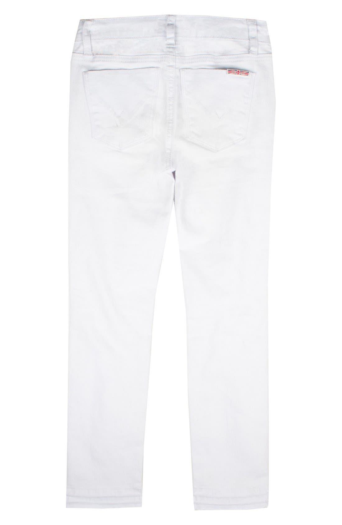Seaside Crop Skinny Jeans,                             Alternate thumbnail 4, color,                             100