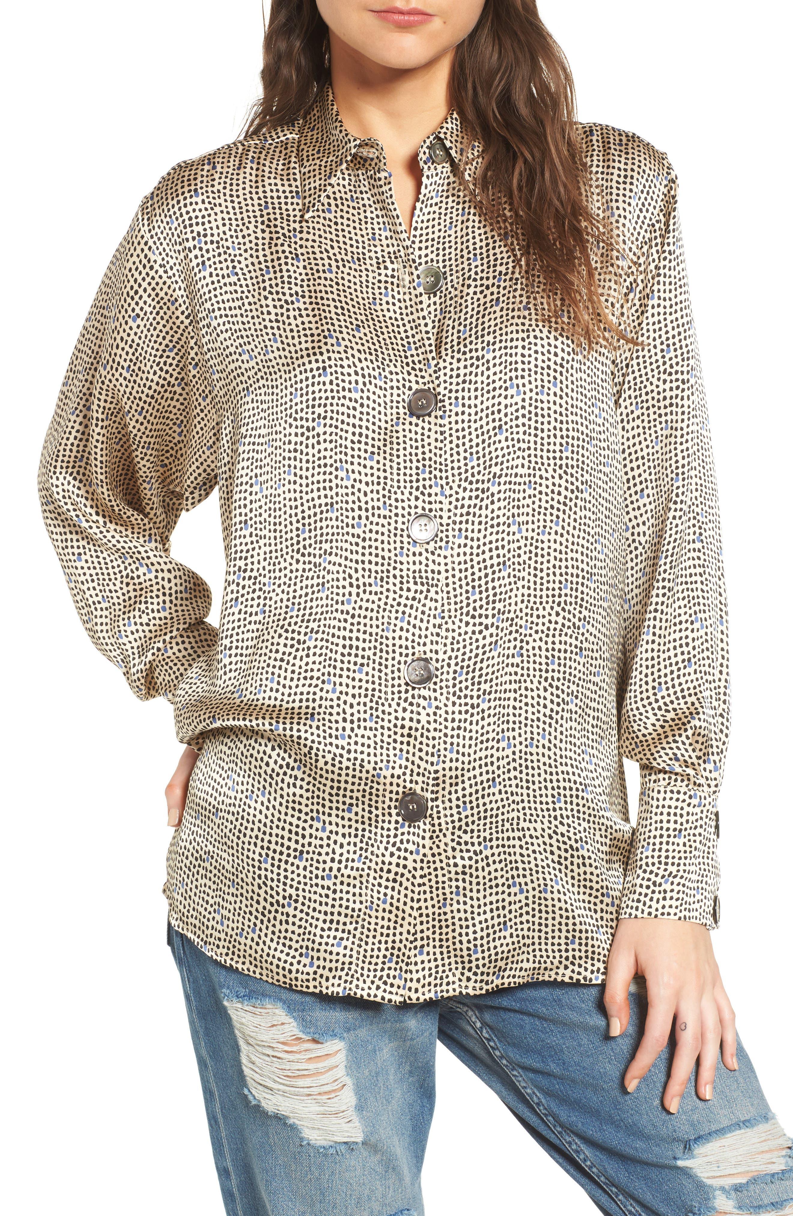Mini Spot Shirt,                             Main thumbnail 1, color,                             251