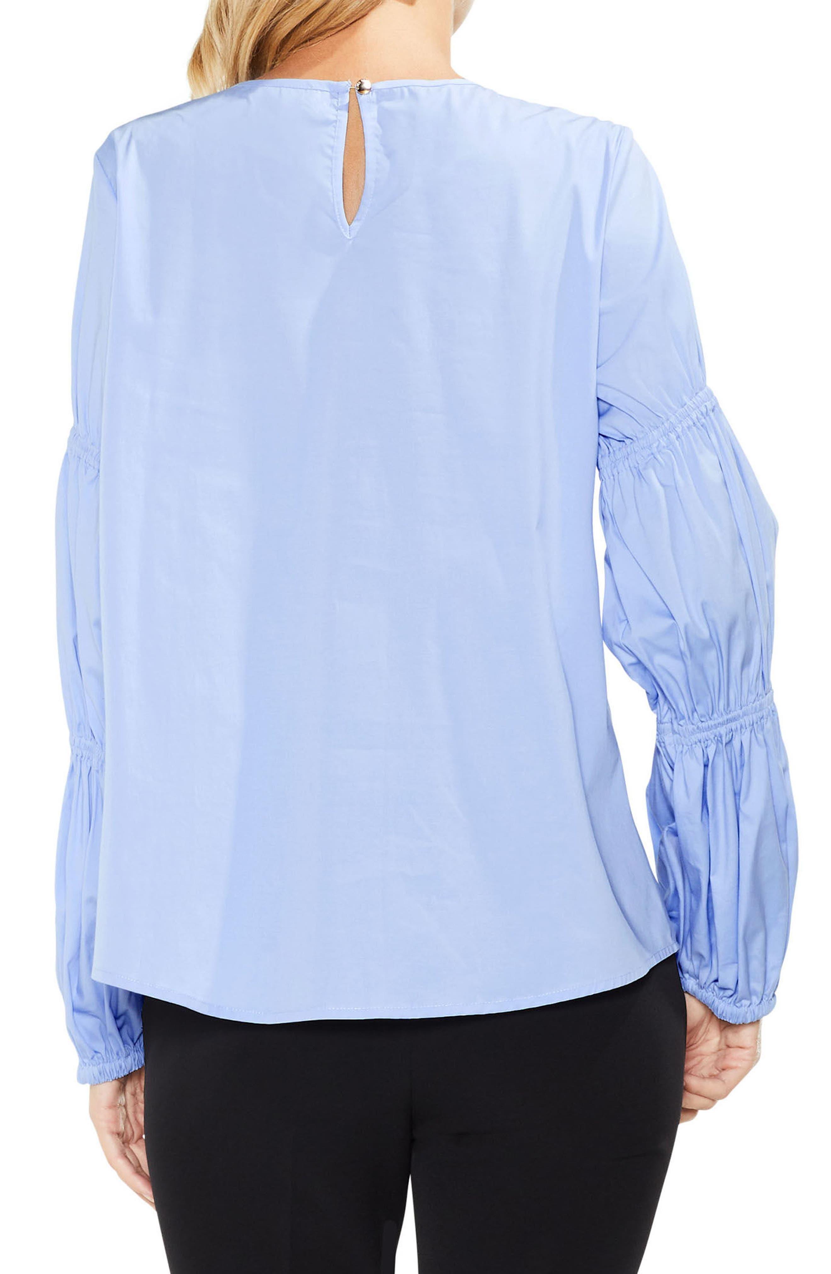 Smocked Poplin Shirt,                             Alternate thumbnail 5, color,