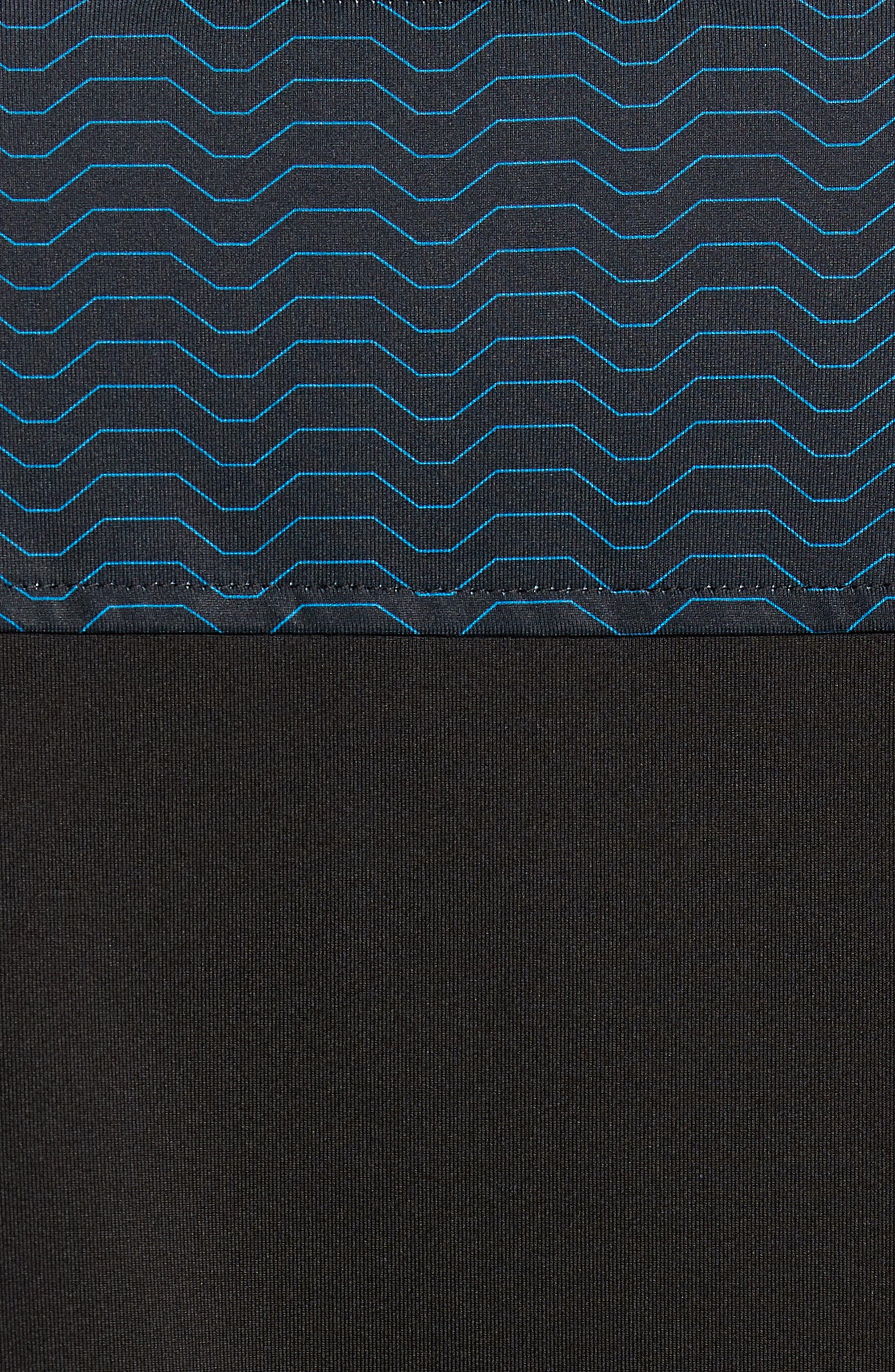 Kevin Wave Print Polo,                             Alternate thumbnail 5, color,                             BLACK