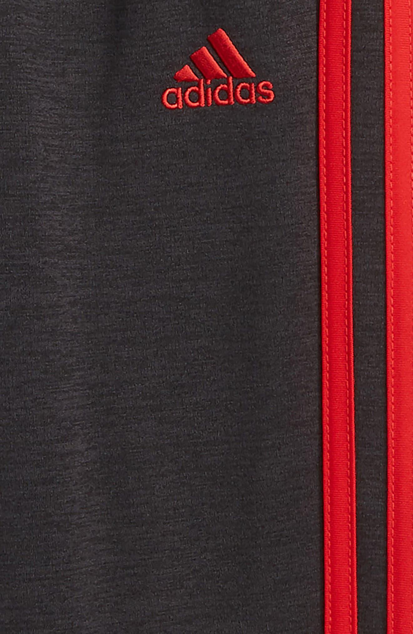 Mélange Track Pants,                             Alternate thumbnail 3, color,                             BLACK/ RED