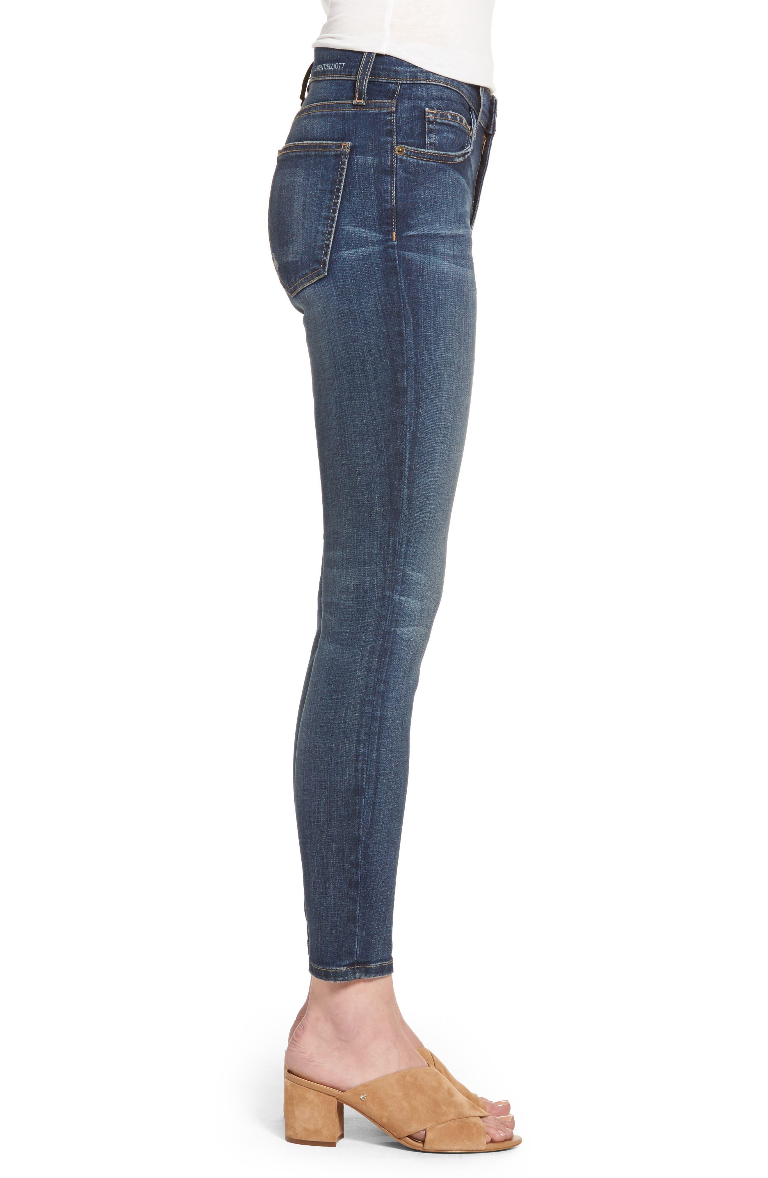 The Stiletto High Waist Skinny Jeans,                             Alternate thumbnail 3, color,                             477