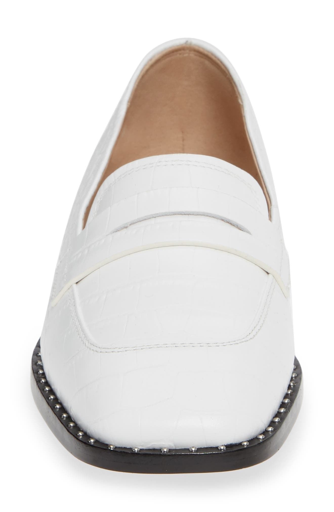 Amado Loafer,                             Alternate thumbnail 4, color,                             WHITE EMBOSSED CROCO LEATHER