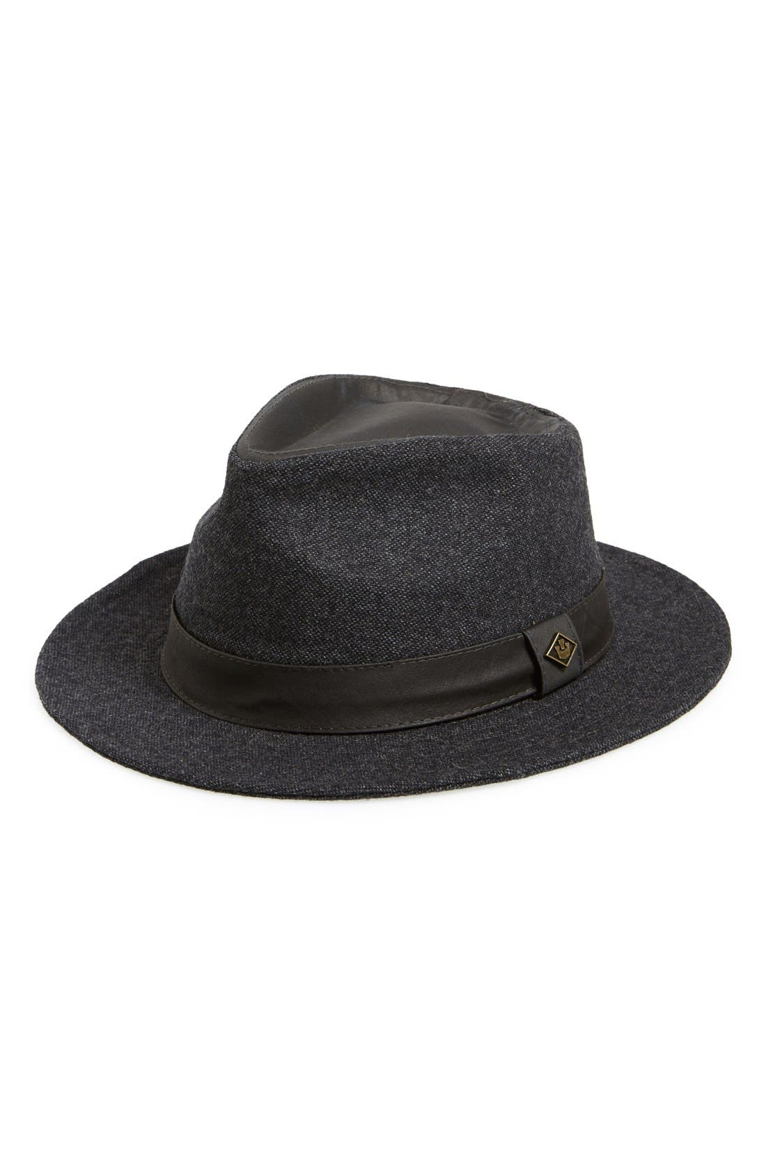 GOORIN BROTHERS,                             Goorin Brothers 'Big Tuna' Fedora,                             Main thumbnail 1, color,                             010