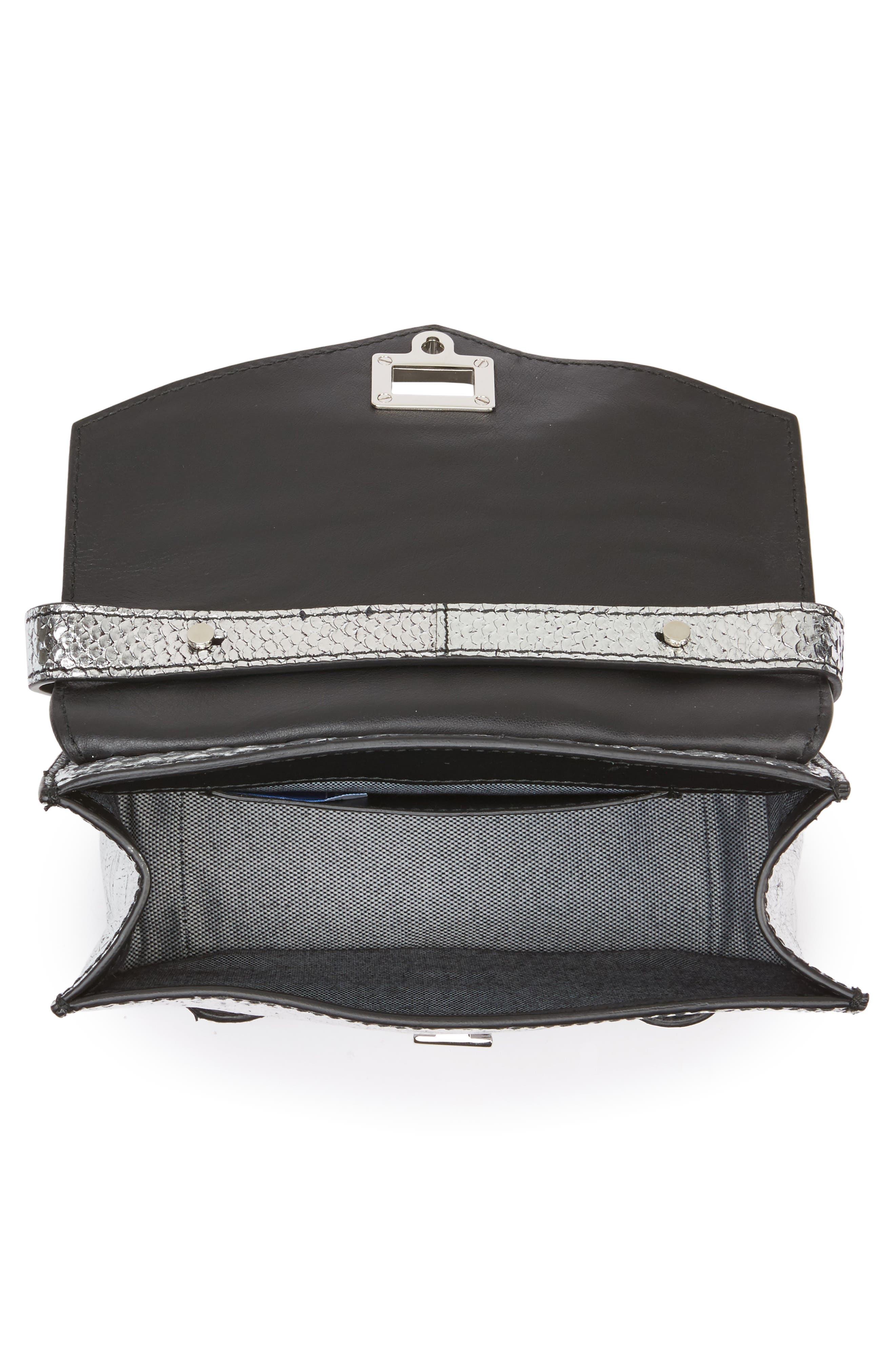 Mini PS1 Snakeskin Embossed Metallic Leather Crossbody Bag,                             Alternate thumbnail 4, color,                             040