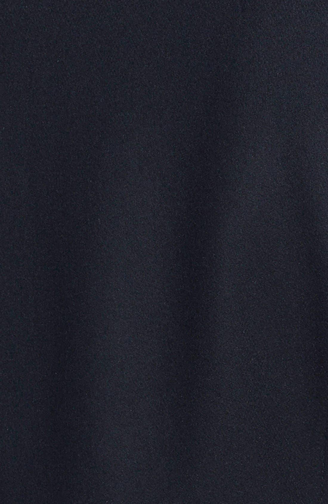 ANDREW MARC,                             'Mara' Genuine Rabbit Fur & Leather Trim Wool Blend Coat,                             Alternate thumbnail 2, color,                             001
