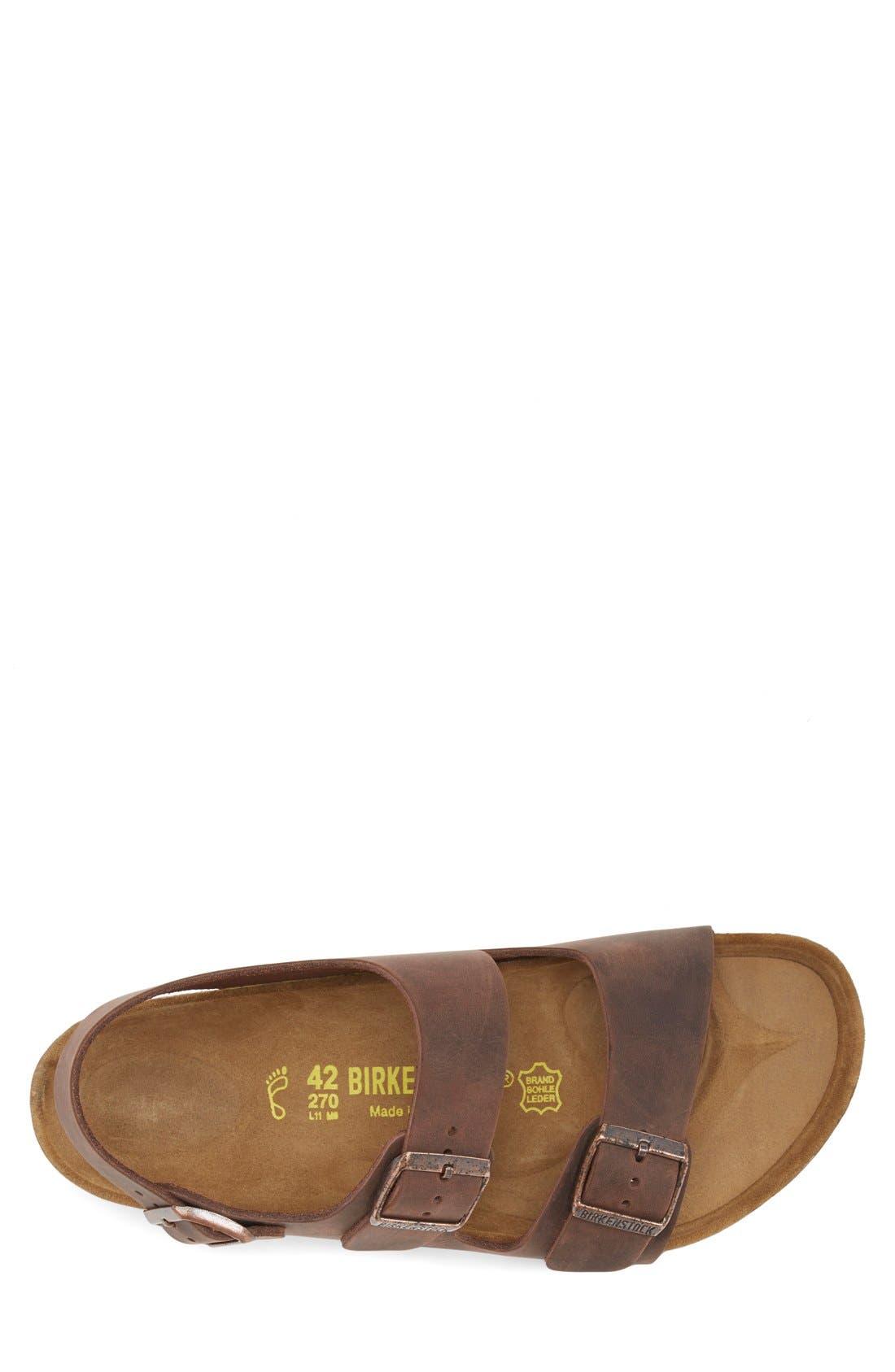 'Milano' Sandal,                             Alternate thumbnail 3, color,                             HABANA OILED