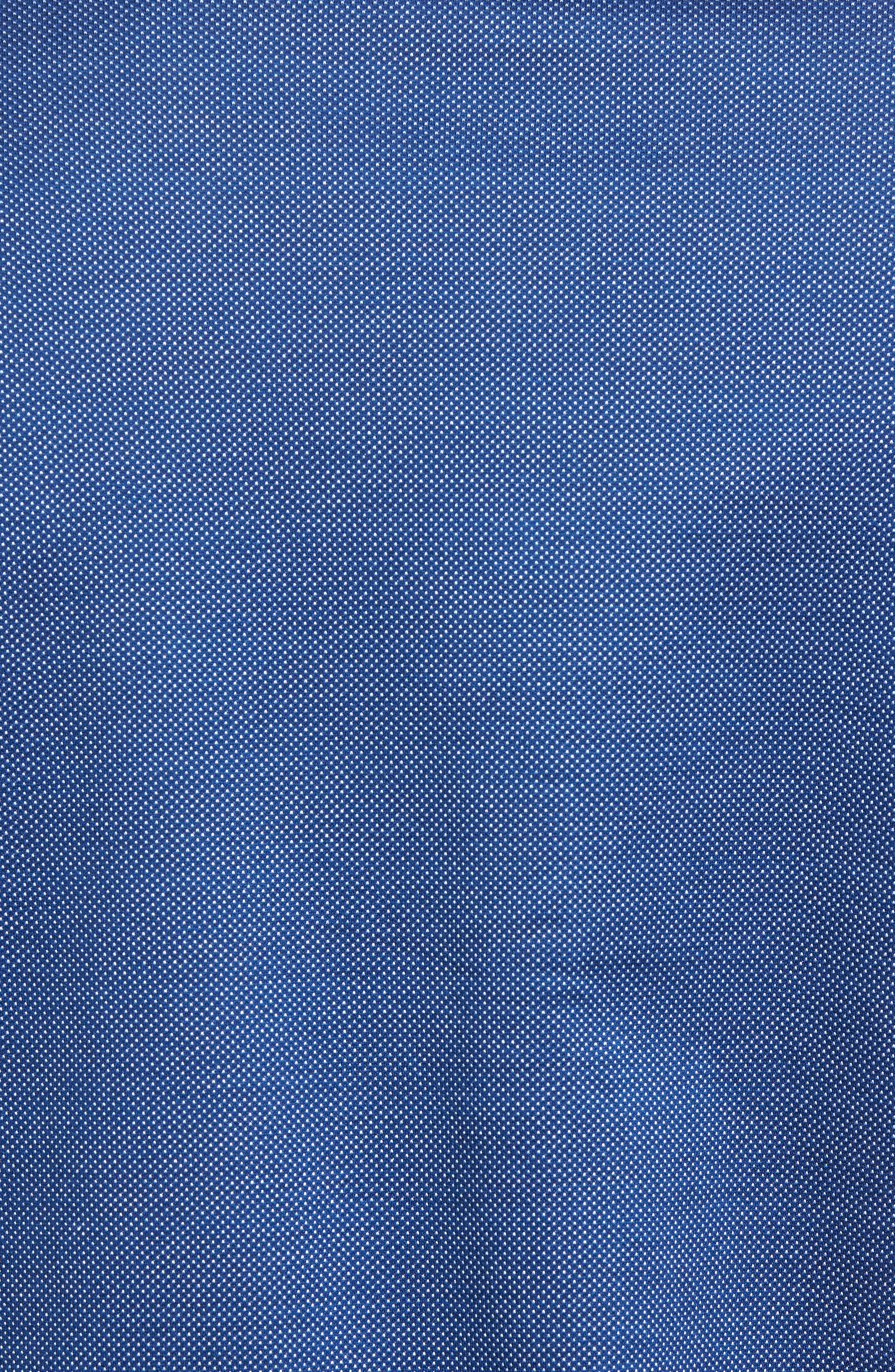 Regular Fit Microdot Print Knit Sport Shirt,                             Alternate thumbnail 5, color,                             411