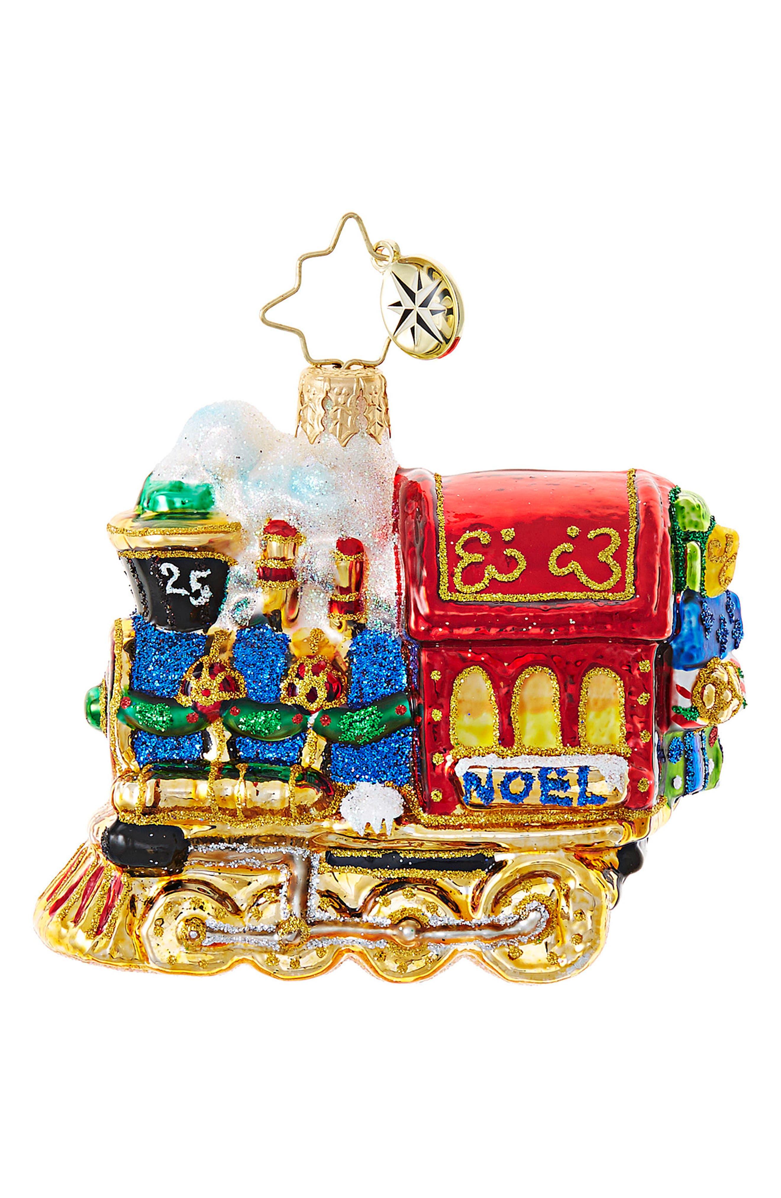 All Aboard Train Ornament,                         Main,                         color, 600
