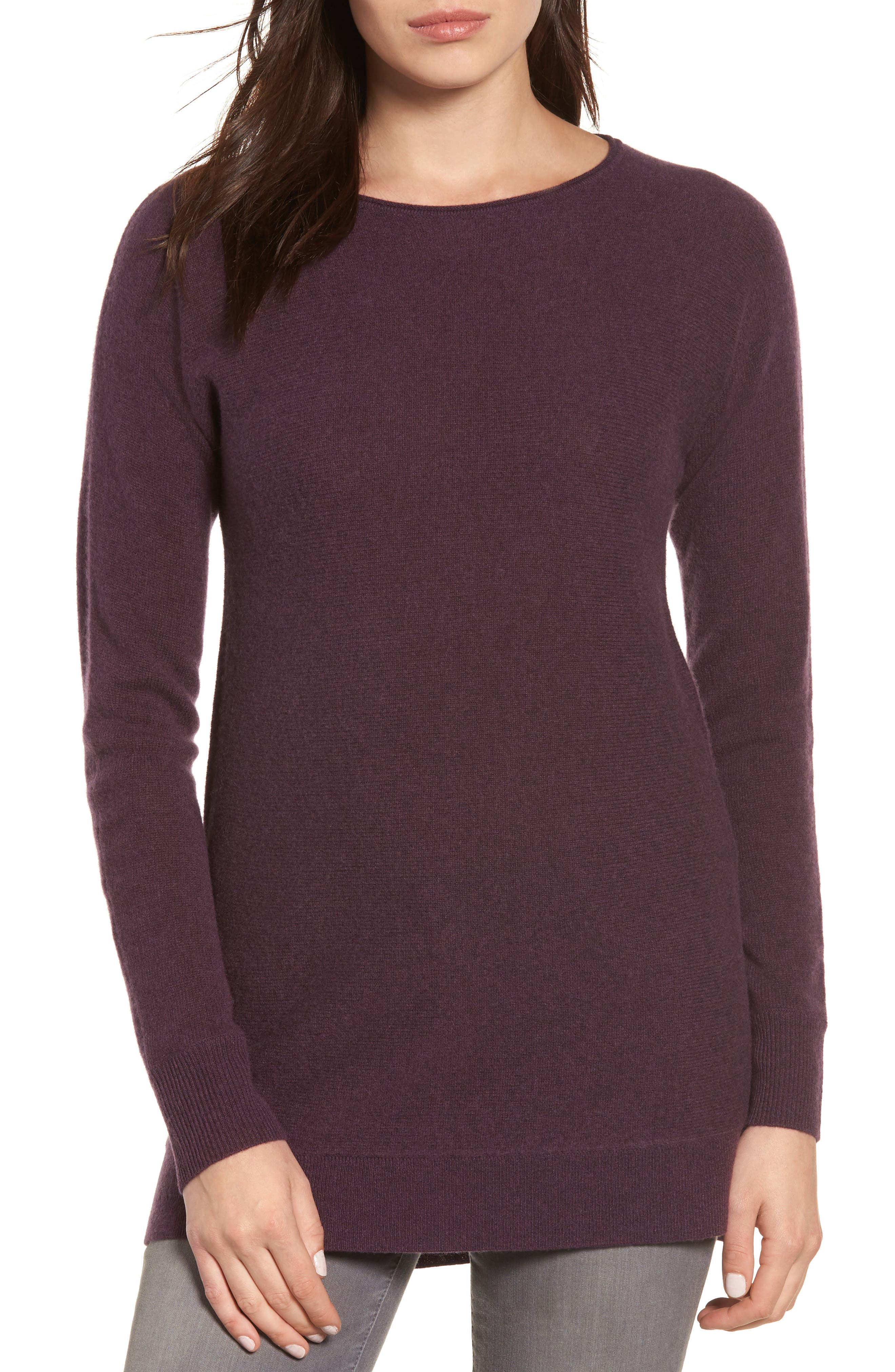 High/Low Wool & Cashmere Tunic Sweater,                             Main thumbnail 13, color,