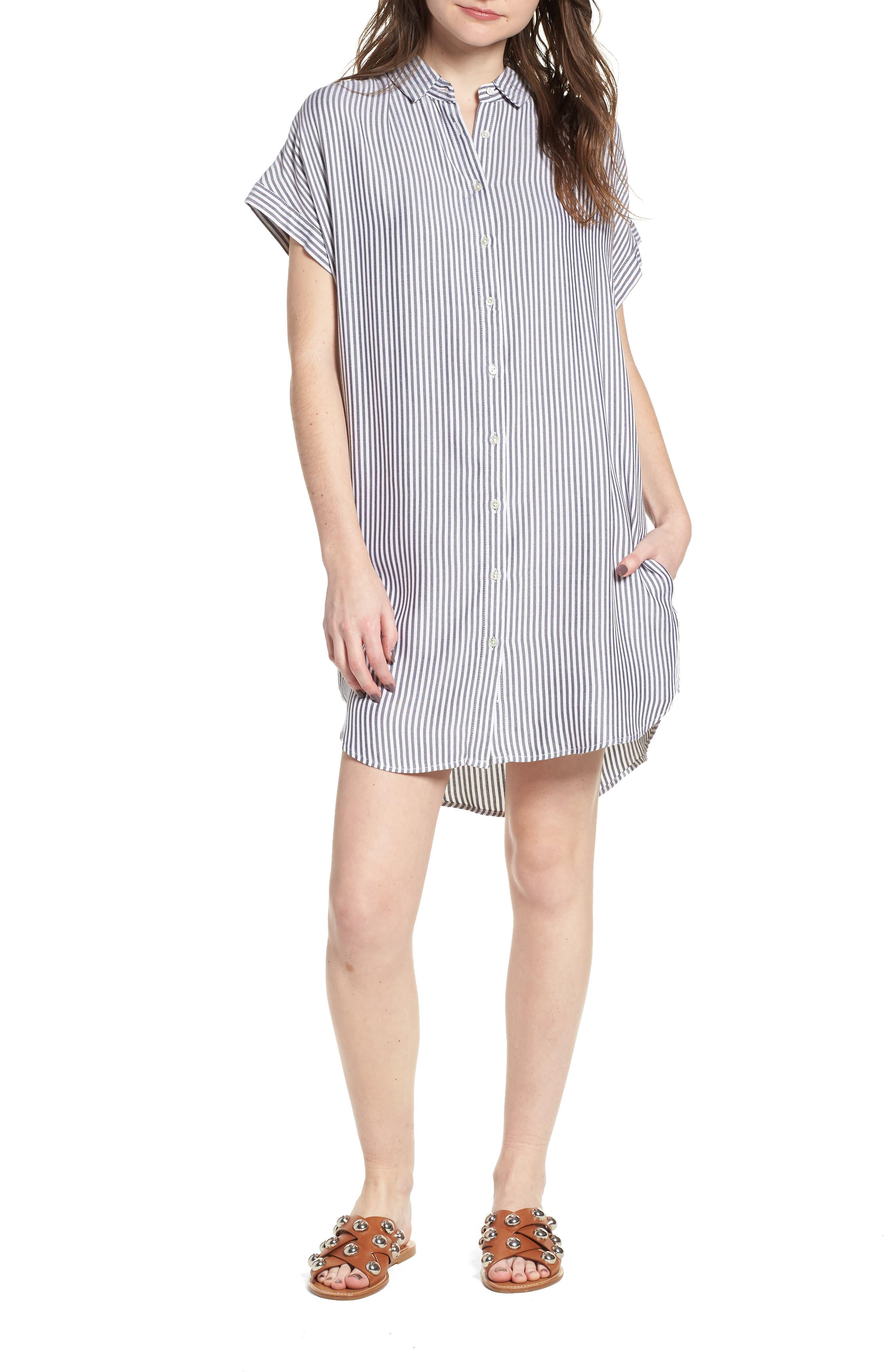 Skipper Stripe Shirtdress,                         Main,                         color, 400