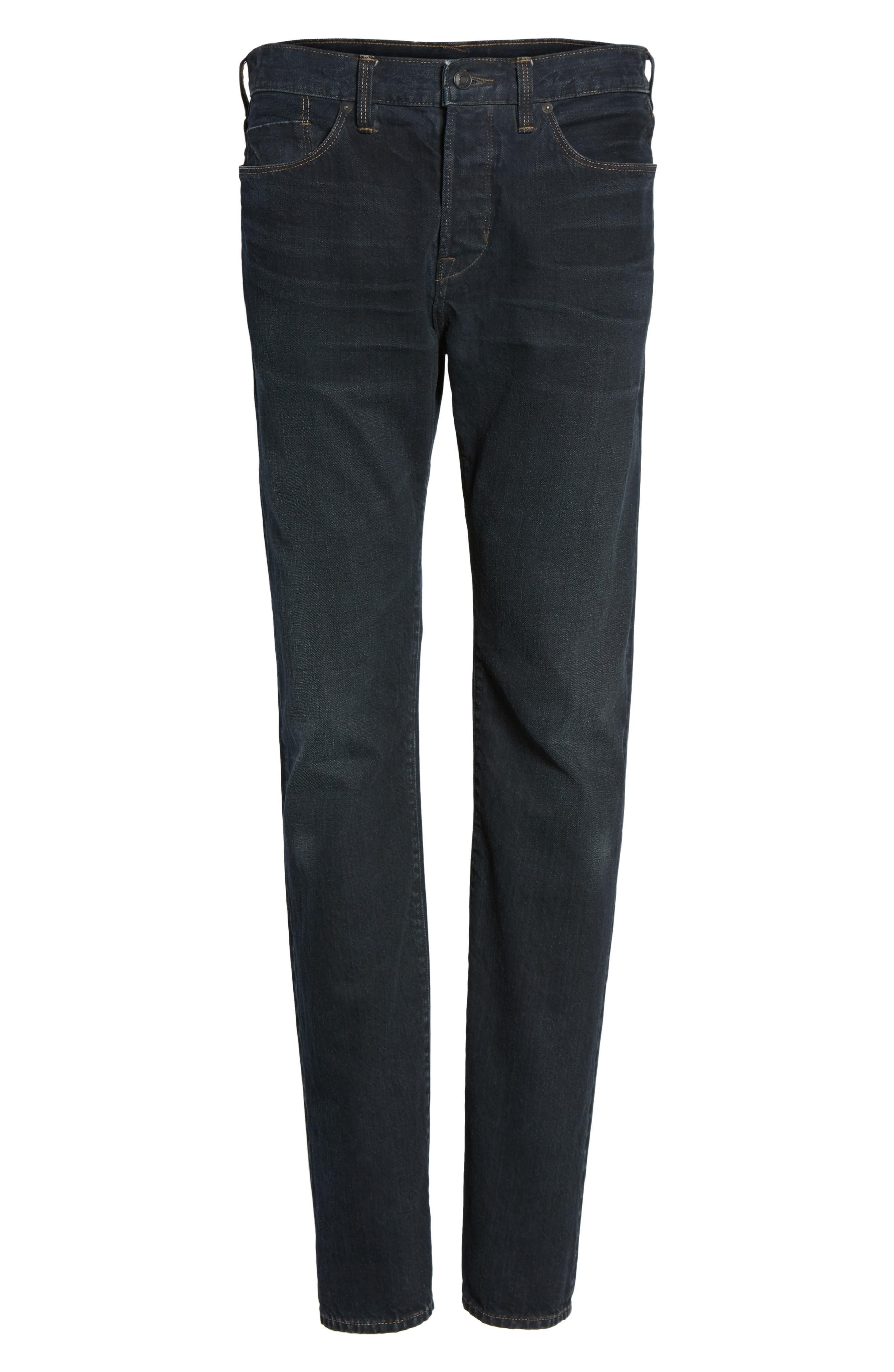 Slim Straight Leg Jeans,                             Alternate thumbnail 6, color,                             004