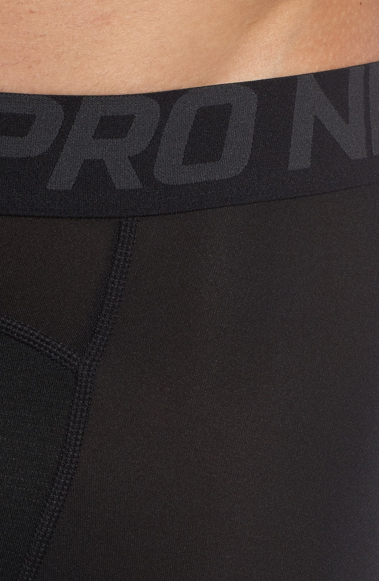 Pro Athletic Tights,                             Alternate thumbnail 4, color,                             BLACK/ ANTHRACITE/ WHITE