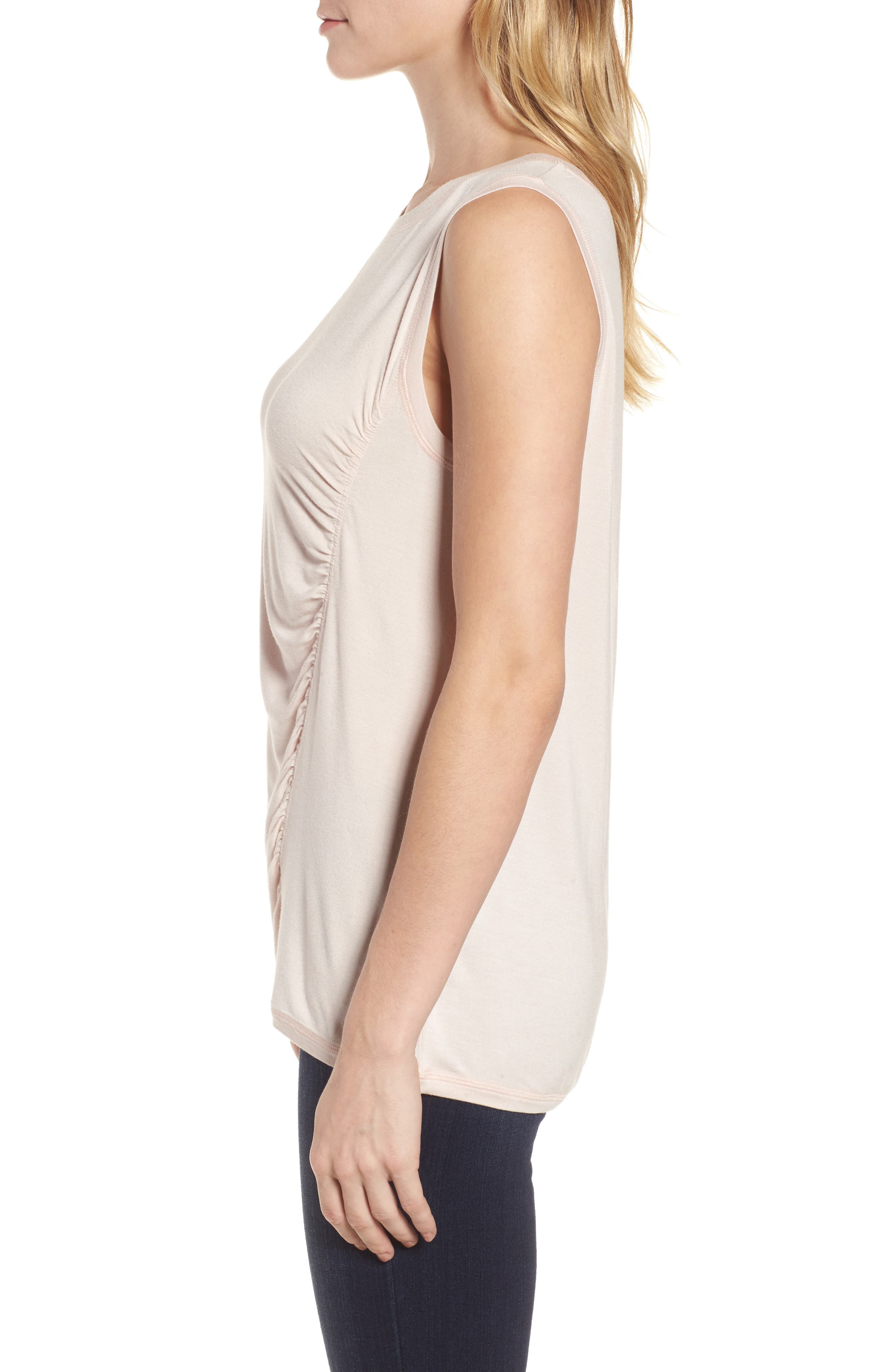Off-Duty Shirred Sleeveless Tee,                             Alternate thumbnail 15, color,