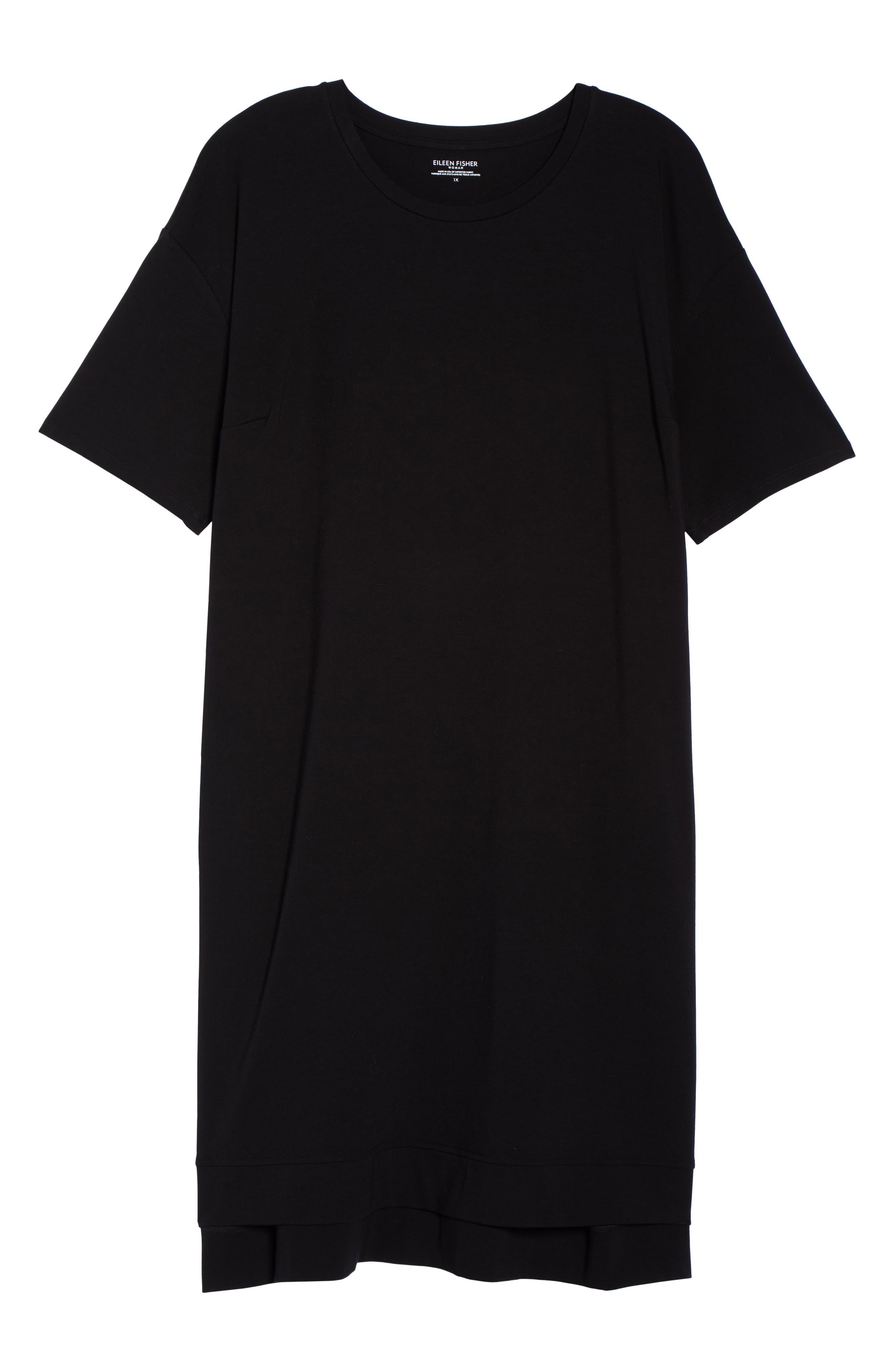 Knit Jersey Dress,                             Alternate thumbnail 6, color,                             001