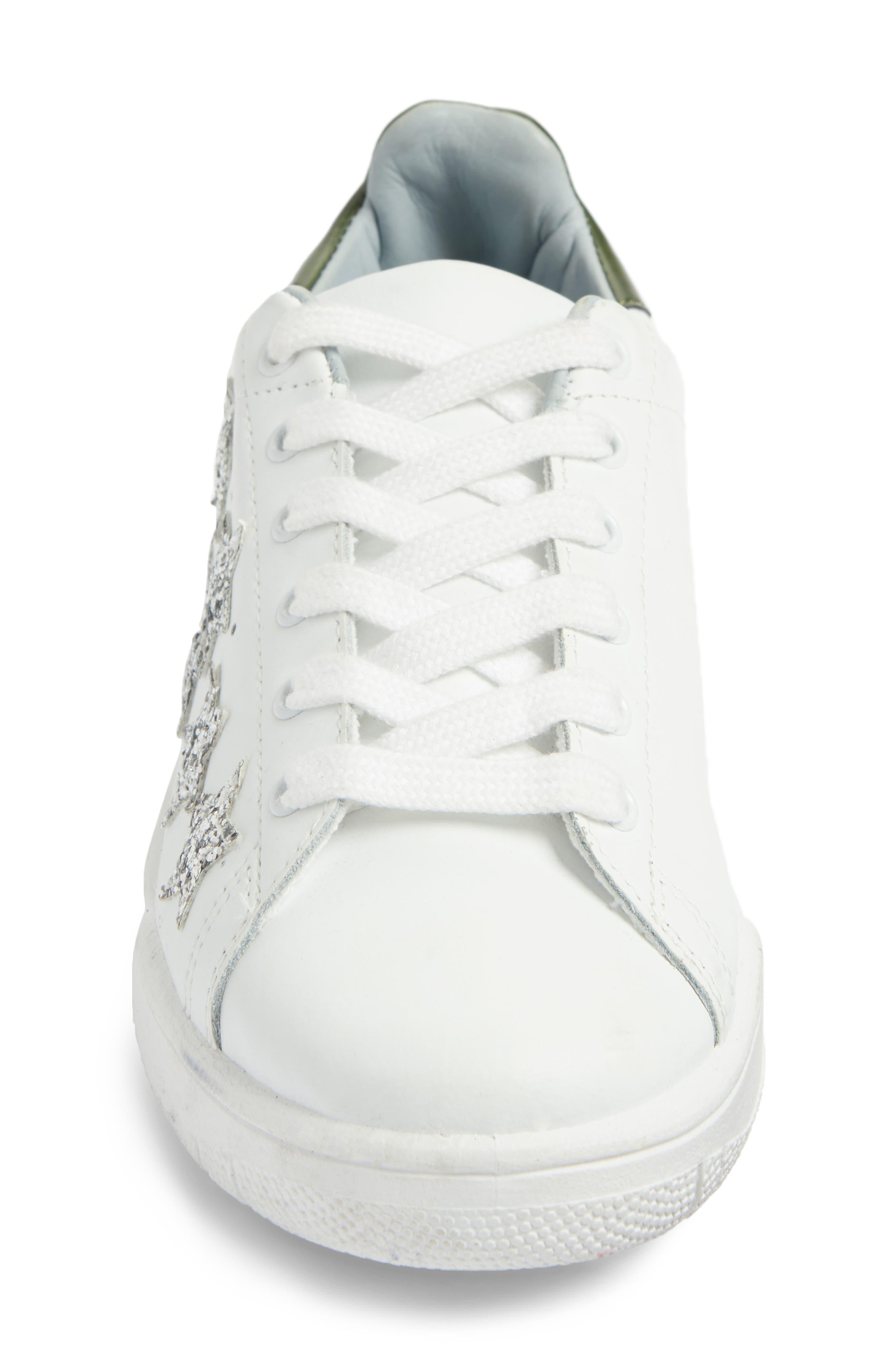 Stars Roger Glitter Sneaker,                             Alternate thumbnail 4, color,                             105
