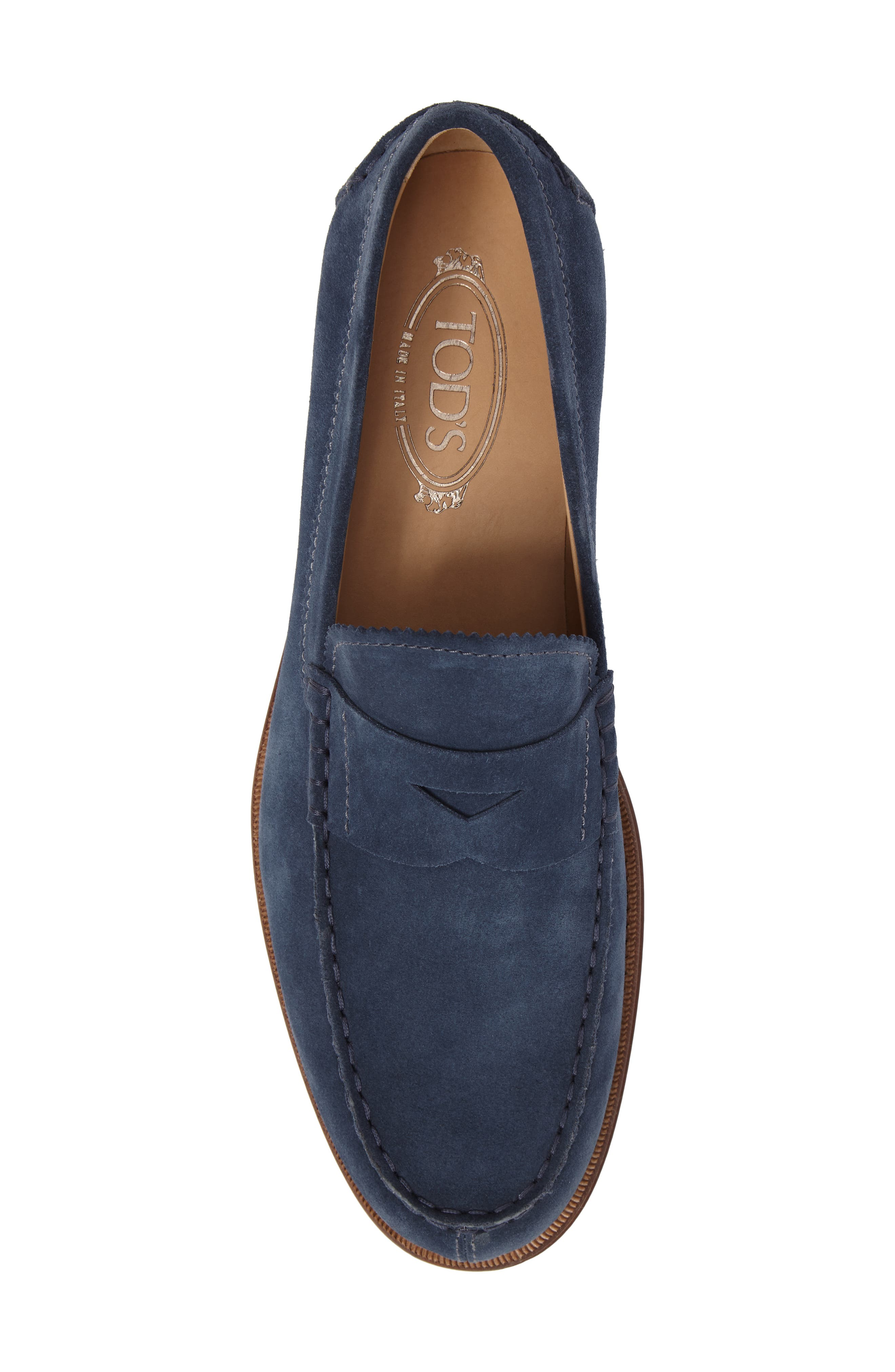 Suede Penny Loafer,                             Alternate thumbnail 10, color,