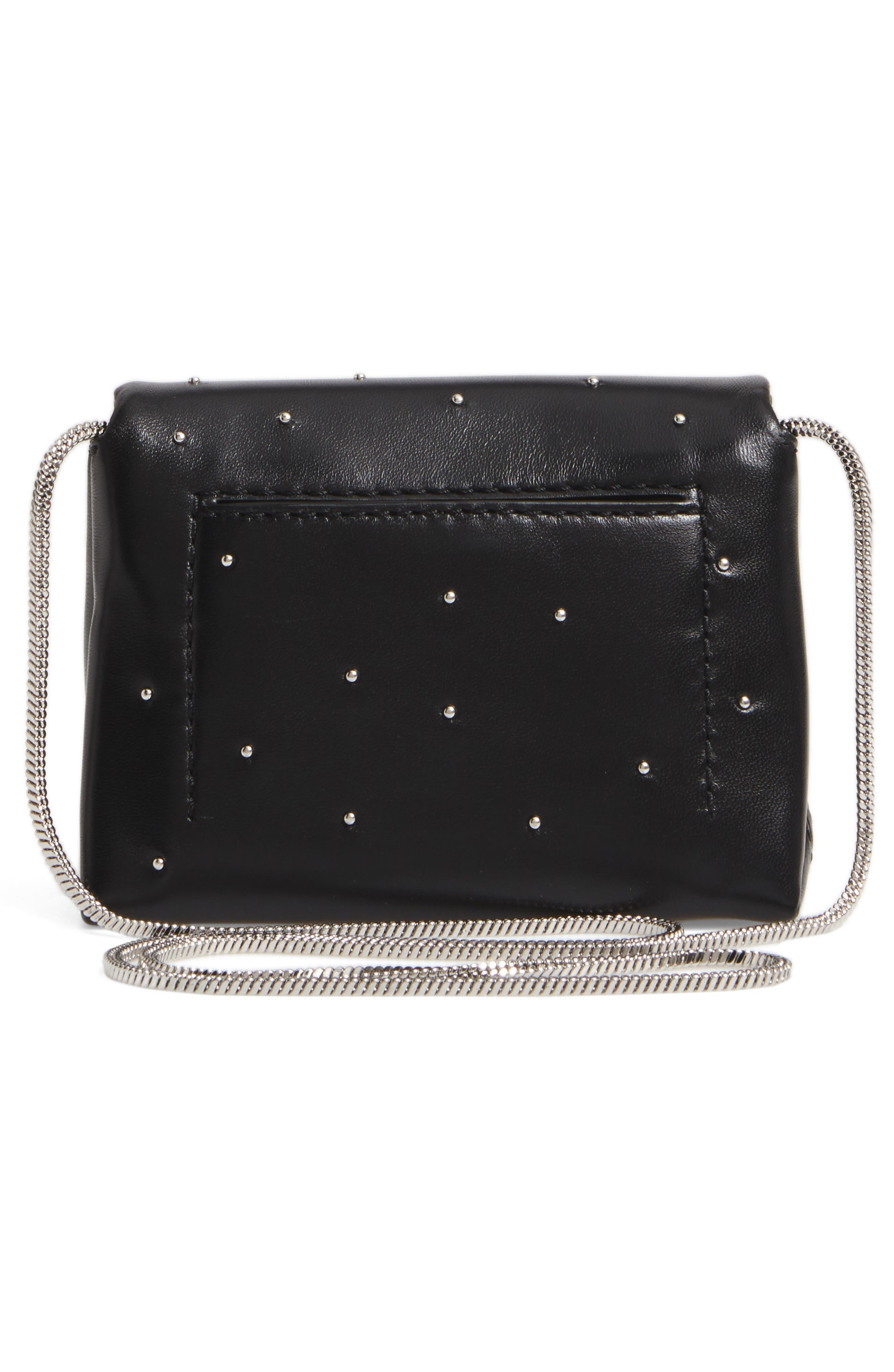 Micro Alix Leather Crossbody Bag,                             Alternate thumbnail 3, color,                             001