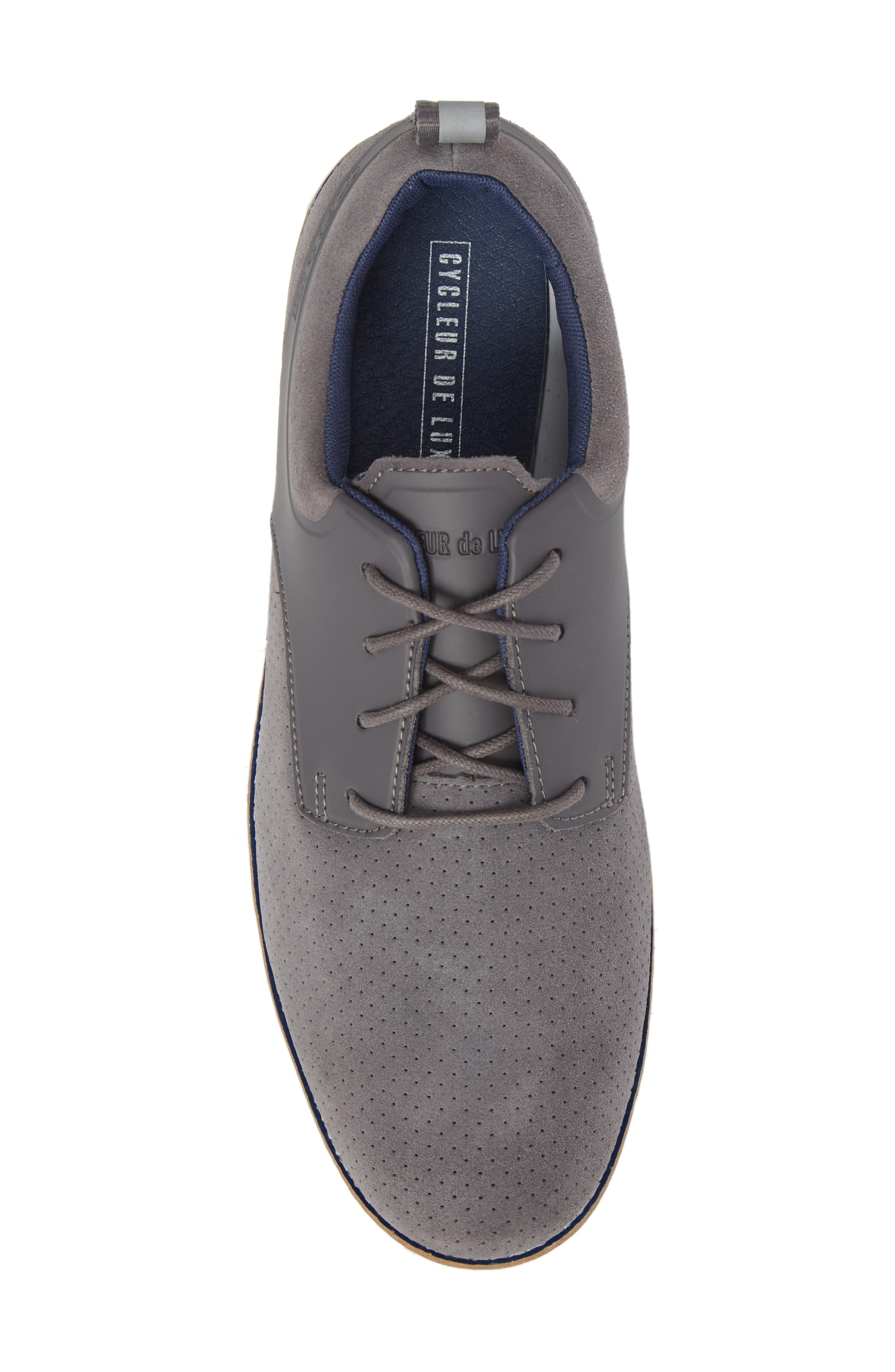 Ridley Perforated Low Top Sneaker,                             Alternate thumbnail 5, color,                             020