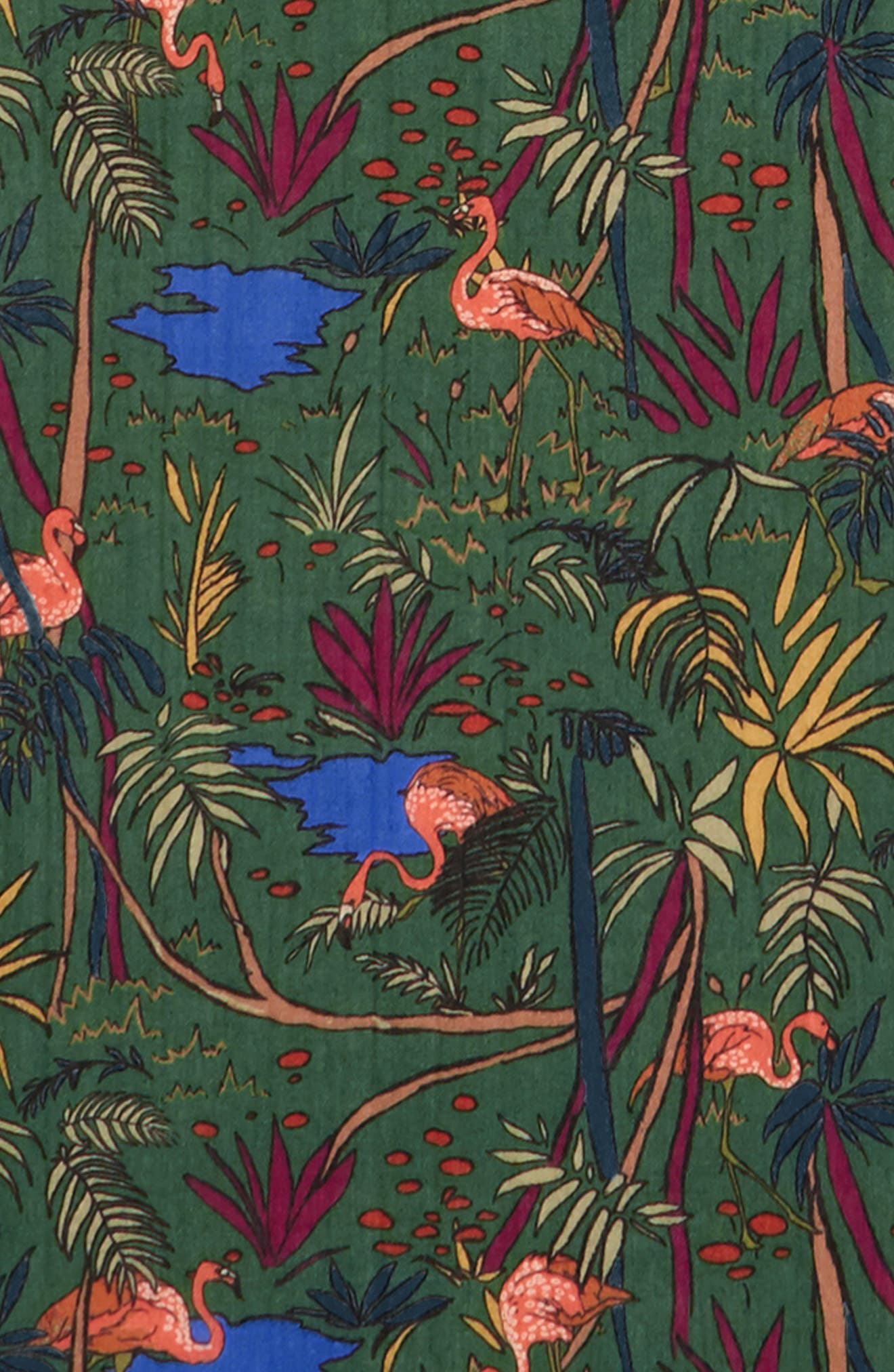 Drakes Jungle Print Wool Scarf,                             Alternate thumbnail 3, color,                             301
