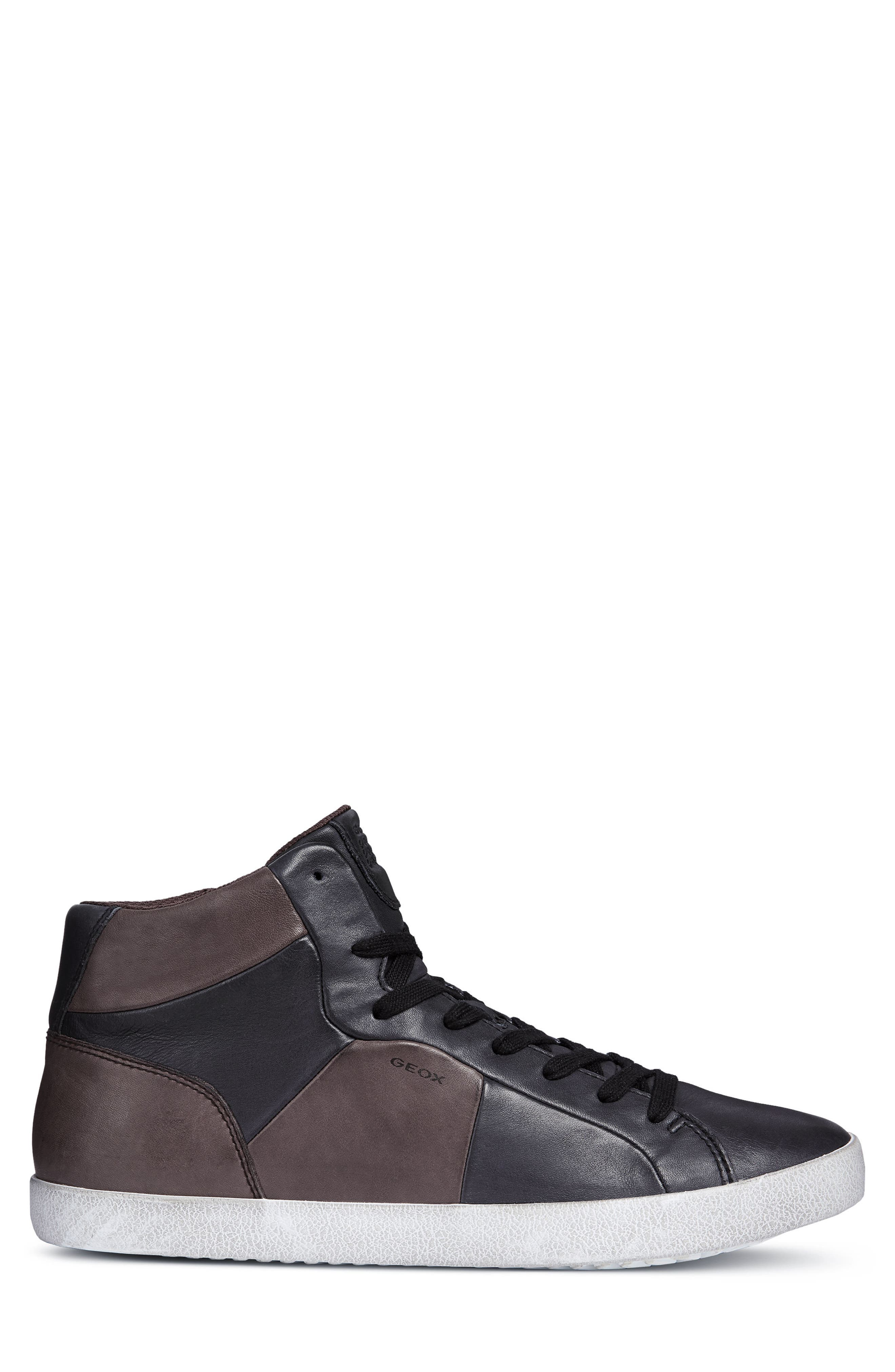 Smart 84 High Top Sneaker,                             Alternate thumbnail 3, color,                             BLACK/ COFFEE LEATHER