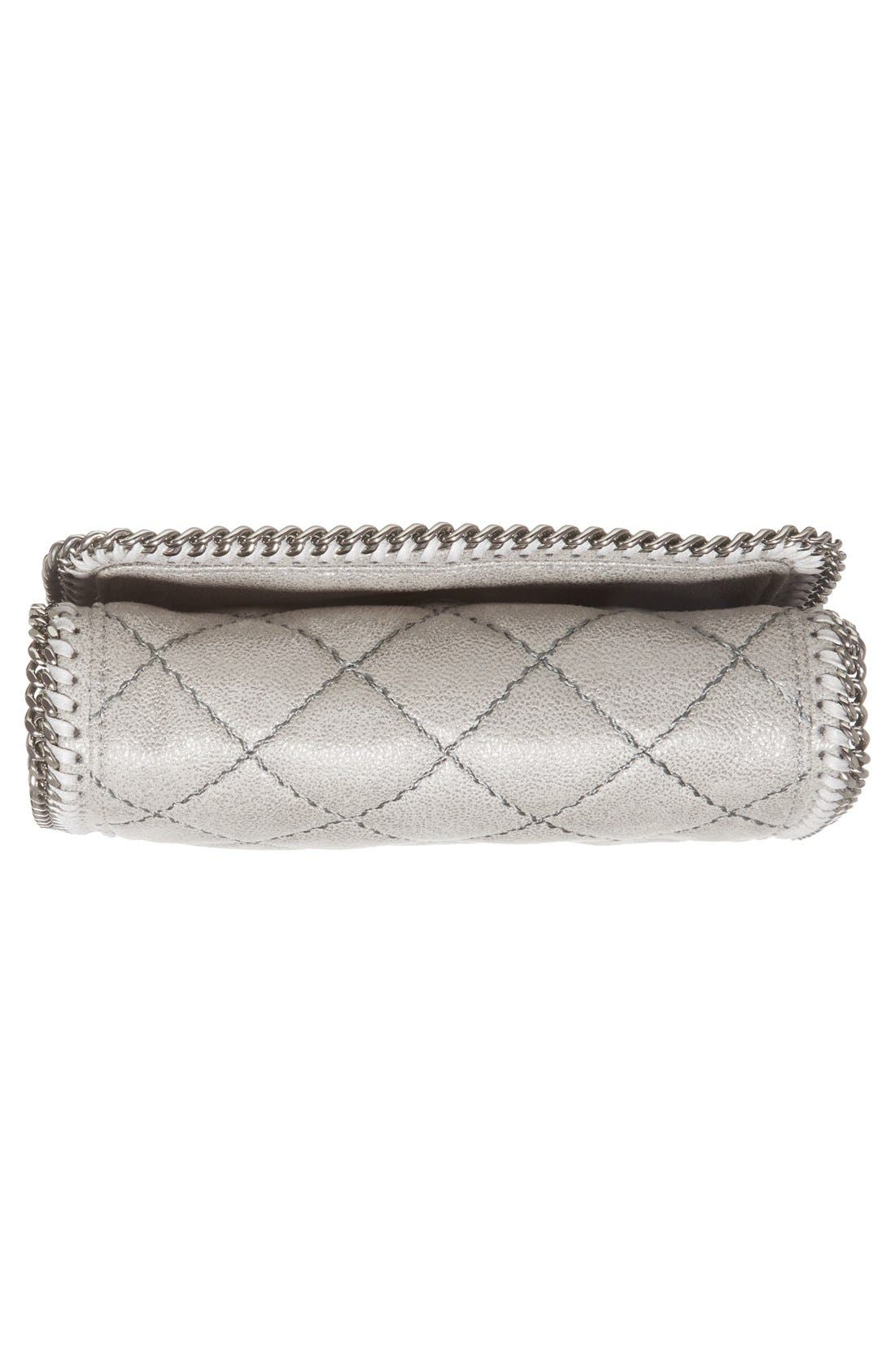'Falabella' Quilted Faux Leather Crossbody Bag,                             Alternate thumbnail 3, color,                             021