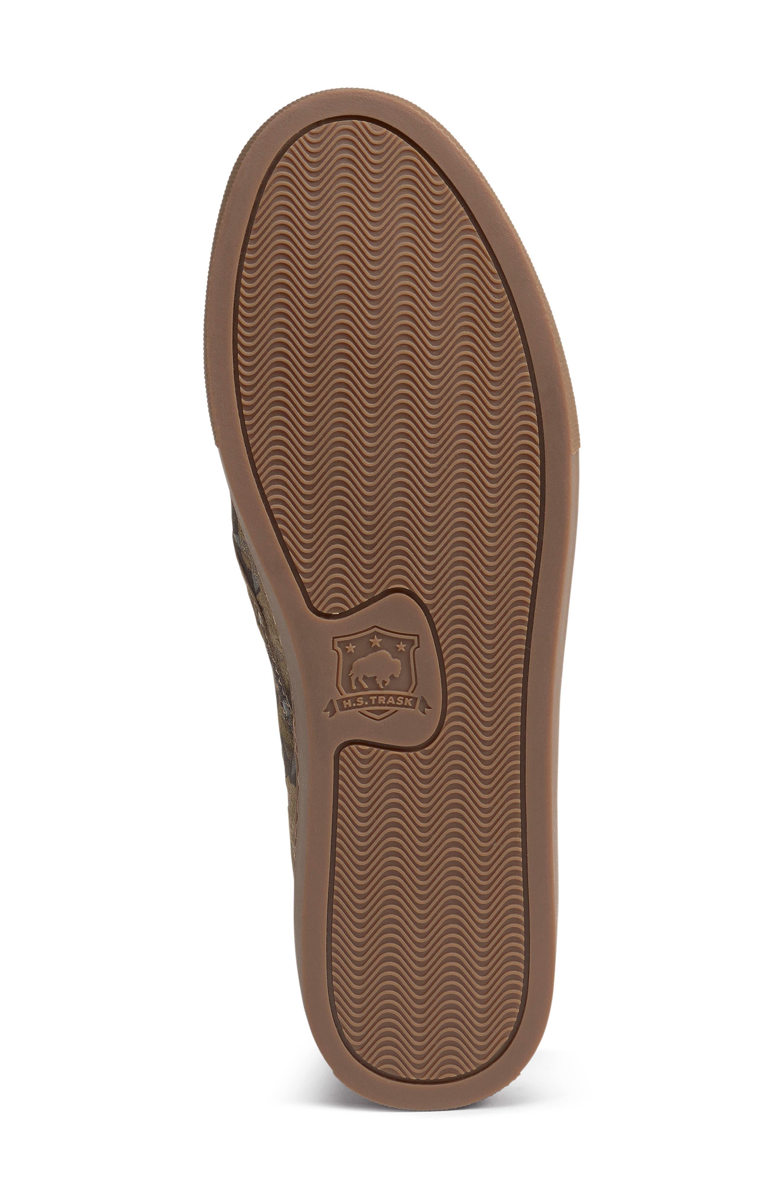 Lillian Water Resistant Slip-On Sneaker,                             Alternate thumbnail 6, color,                             OLIVE STAR PRINT SUEDE