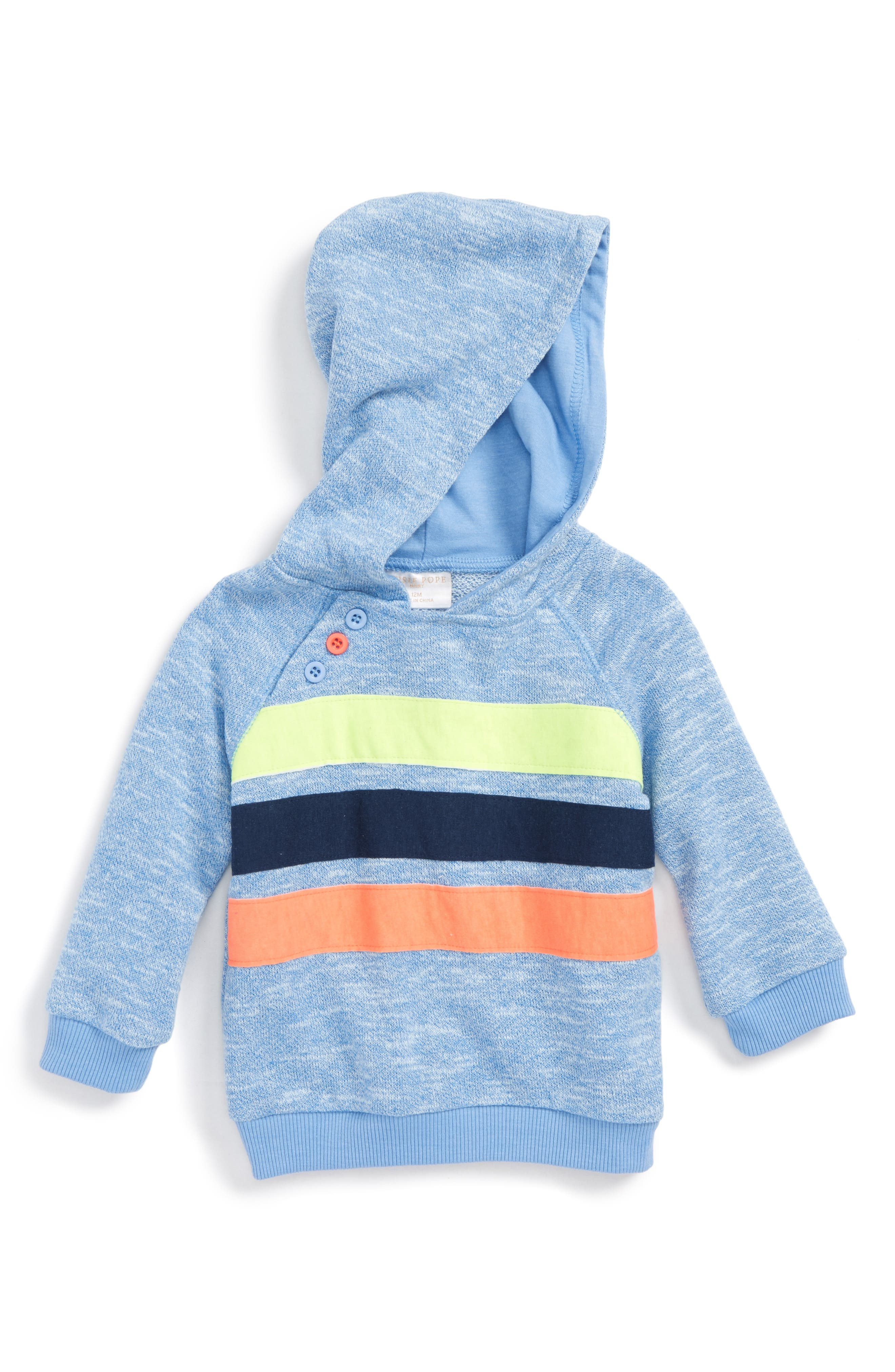 Stripe Appliqué Hoodie,                         Main,                         color, 444