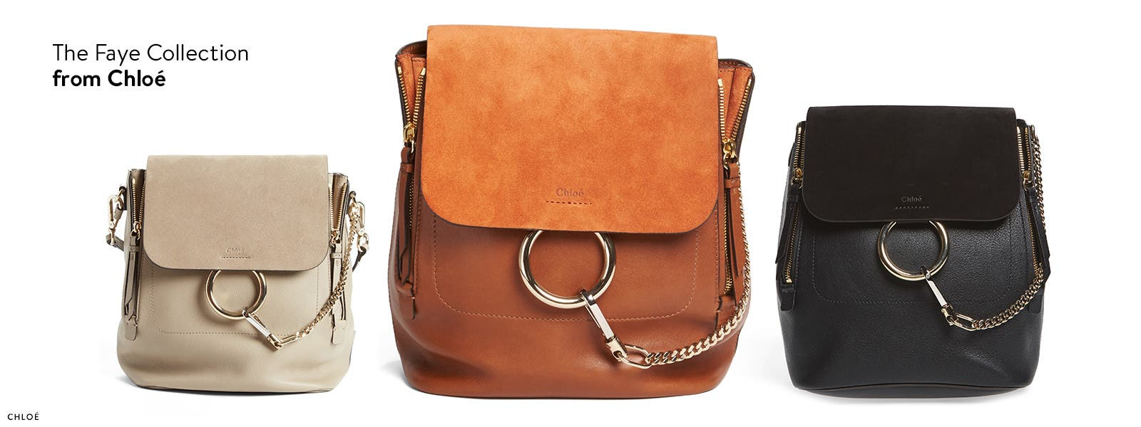 The Faye designer handbag collection by Chloe.