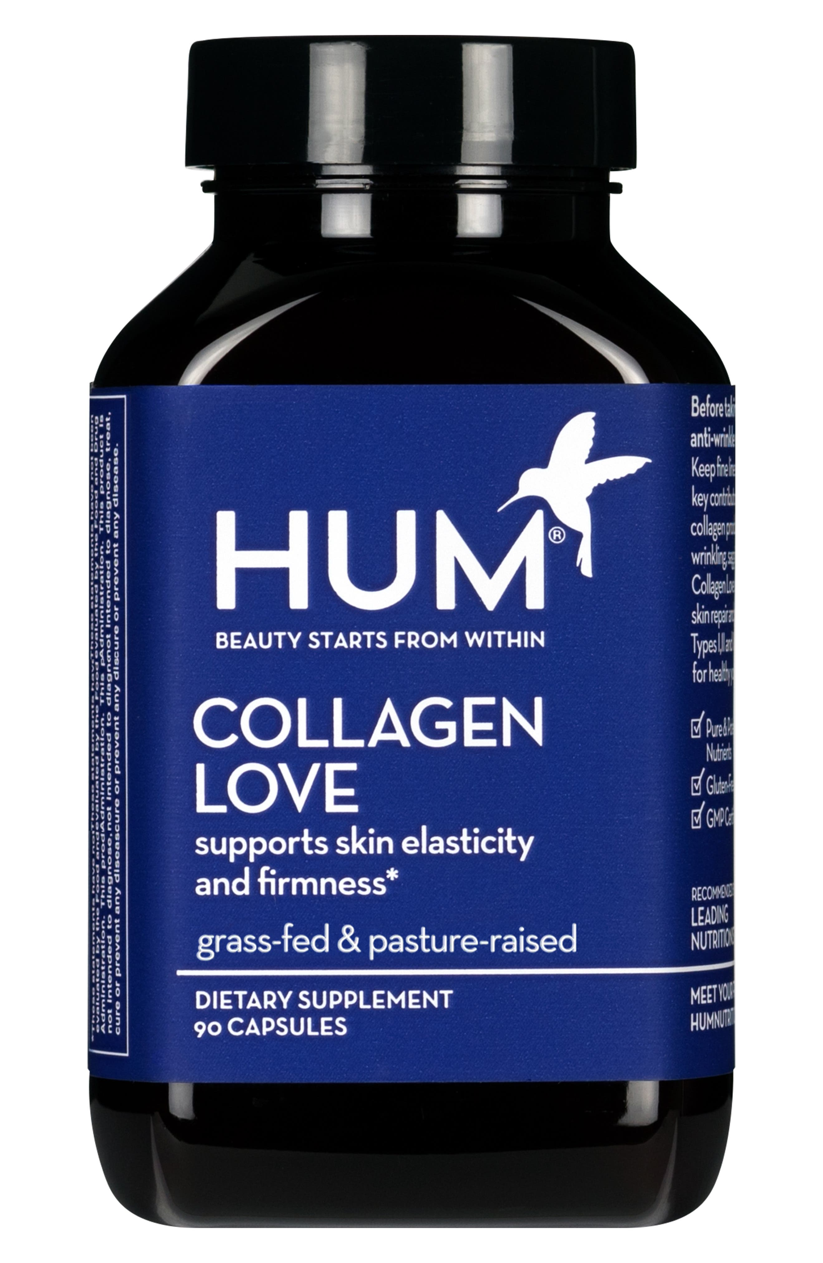HUM NUTRITION,                             Collagen Love Skin Firming Supplement,                             Main thumbnail 1, color,                             NO COLOR