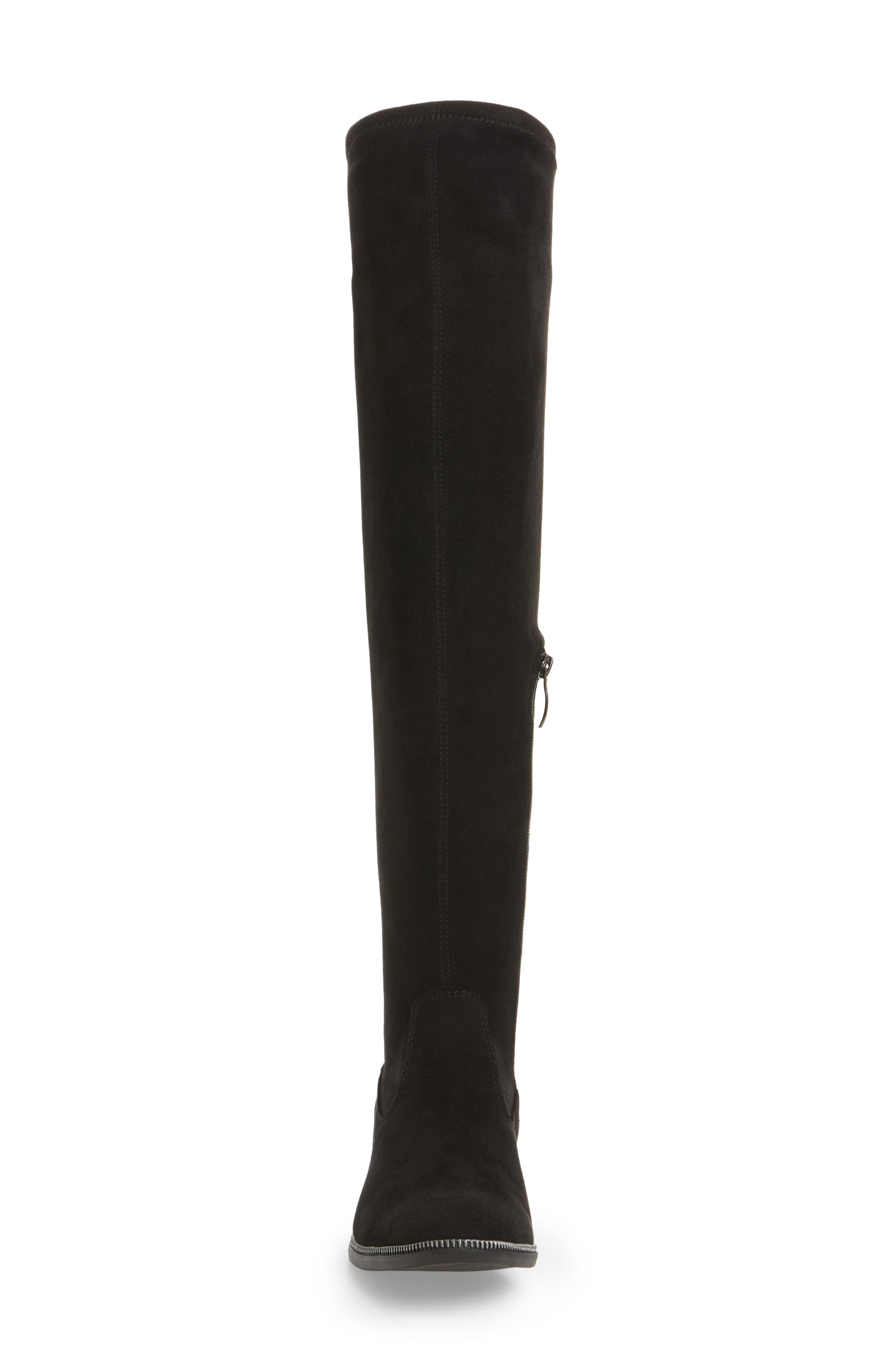 Phanie Over the Knee Stretch Boot,                             Alternate thumbnail 4, color,                             001