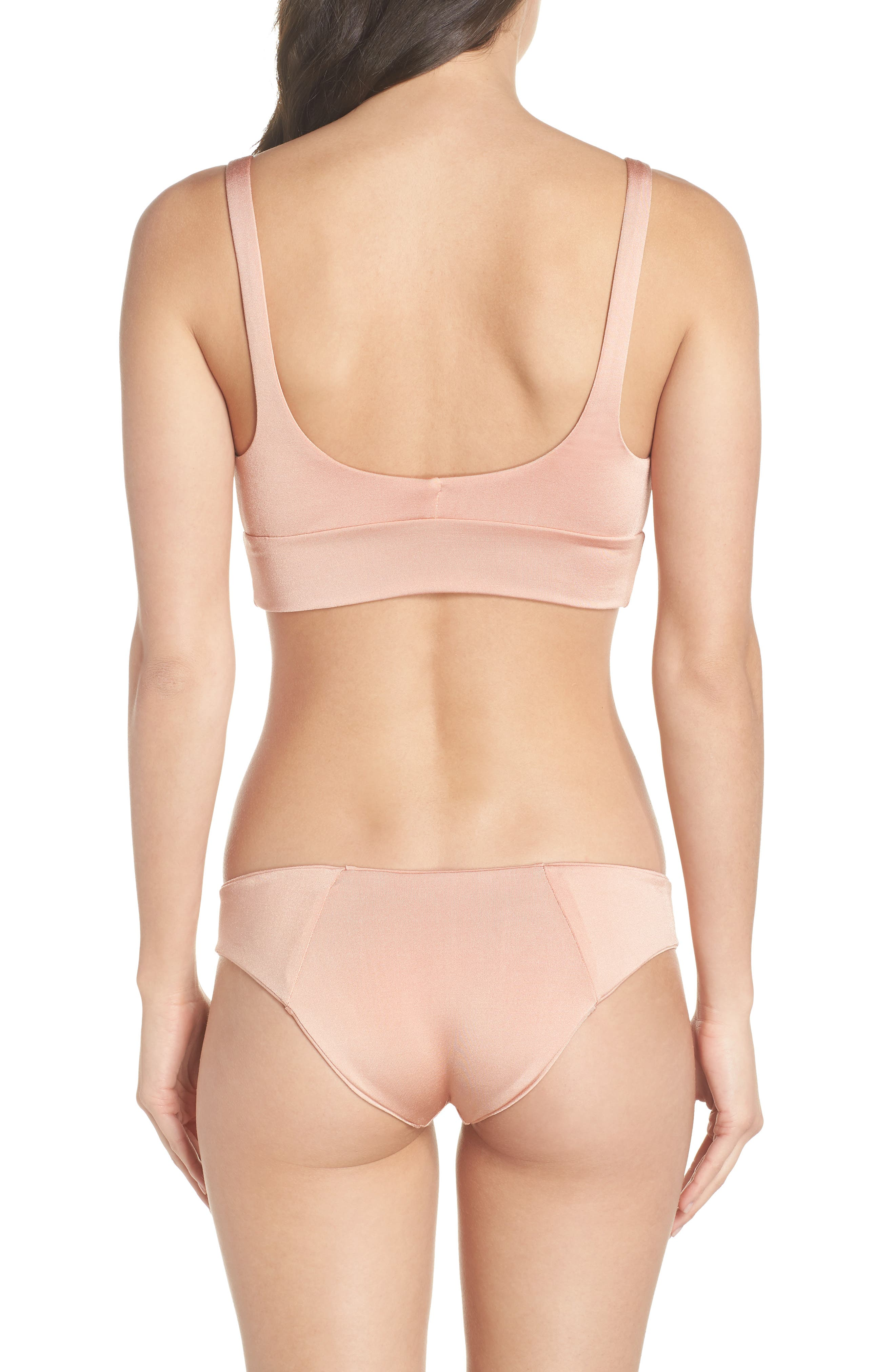 Charlie Bikini Bottoms,                             Alternate thumbnail 8, color,                             BLUSH & BASHFUL