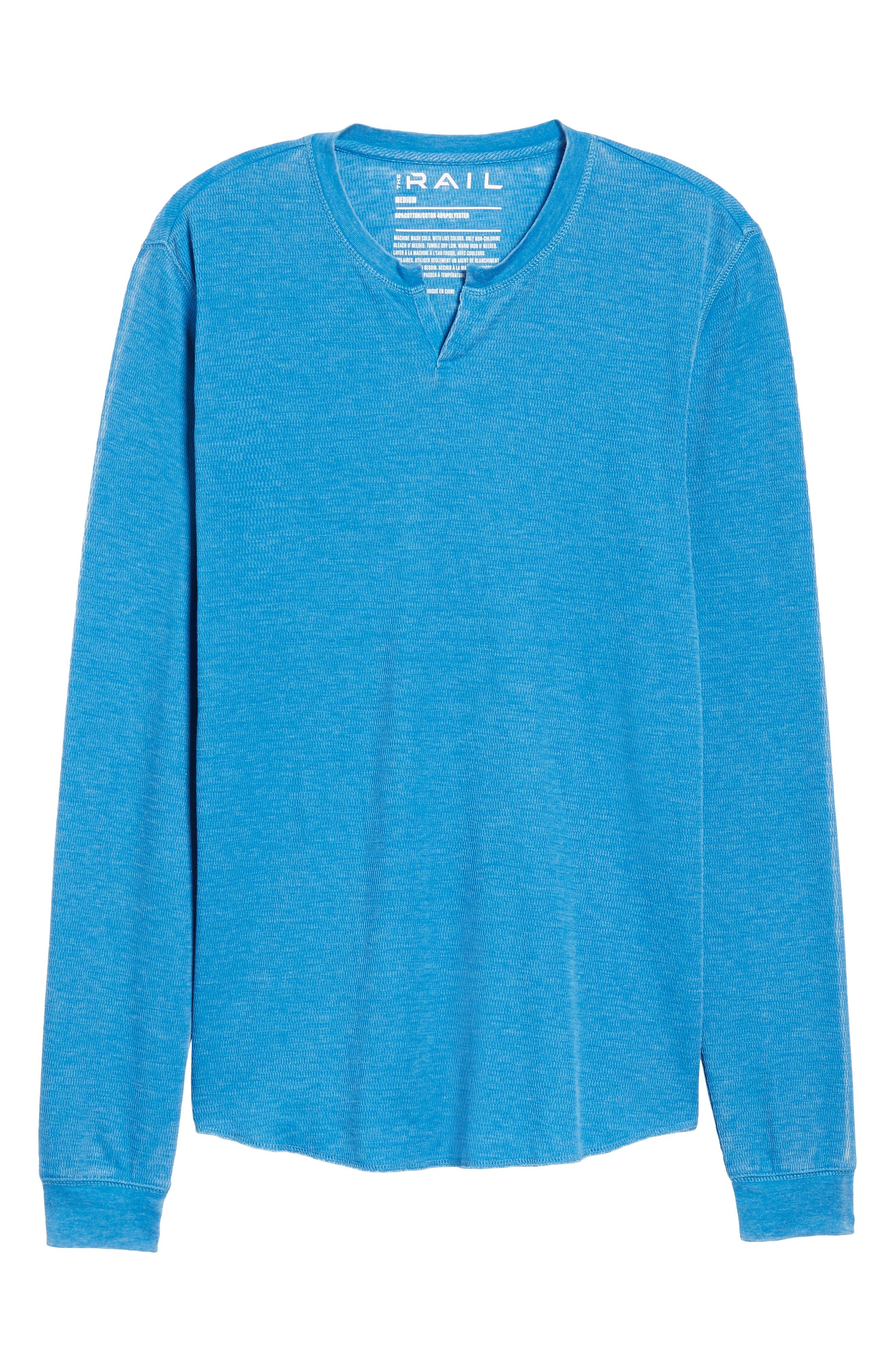 Notch Neck Thermal T-Shirt,                             Alternate thumbnail 40, color,