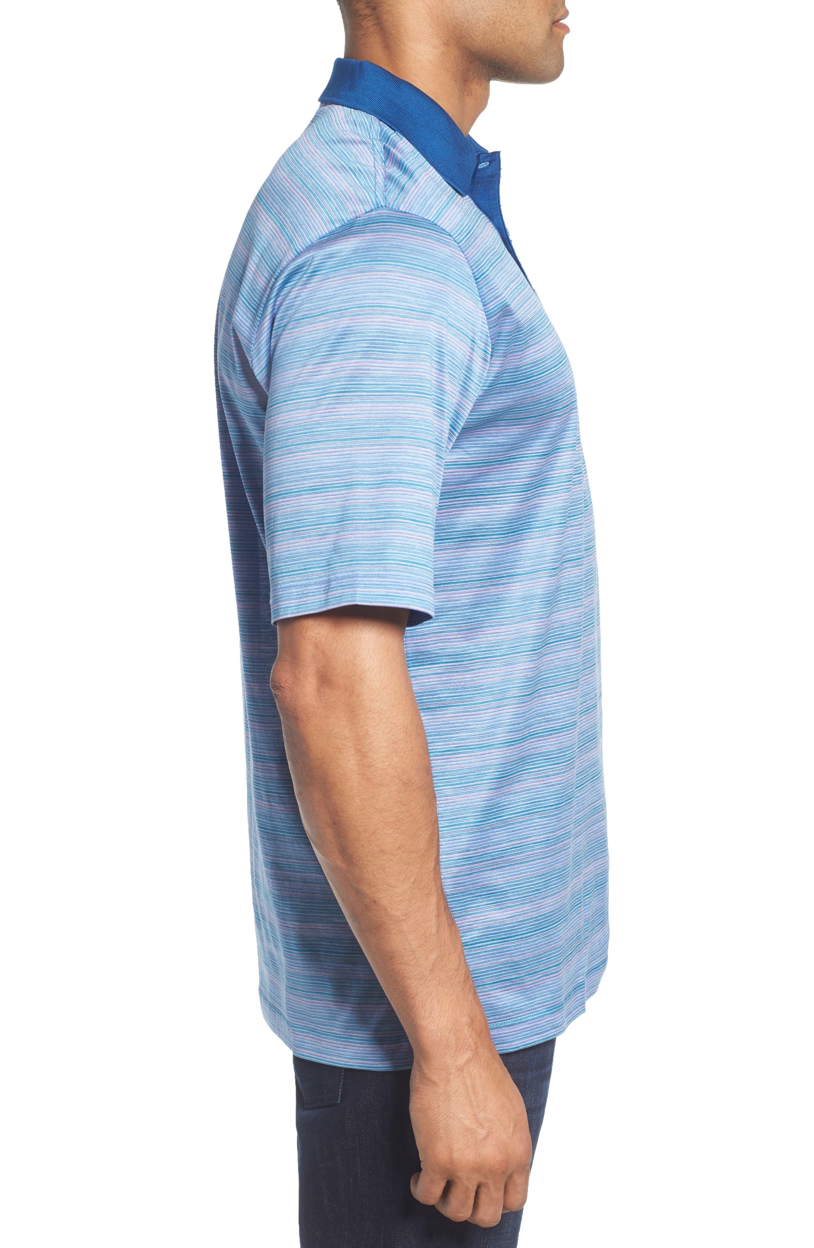 Stripe Mercerized Cotton Polo,                             Alternate thumbnail 3, color,                             513