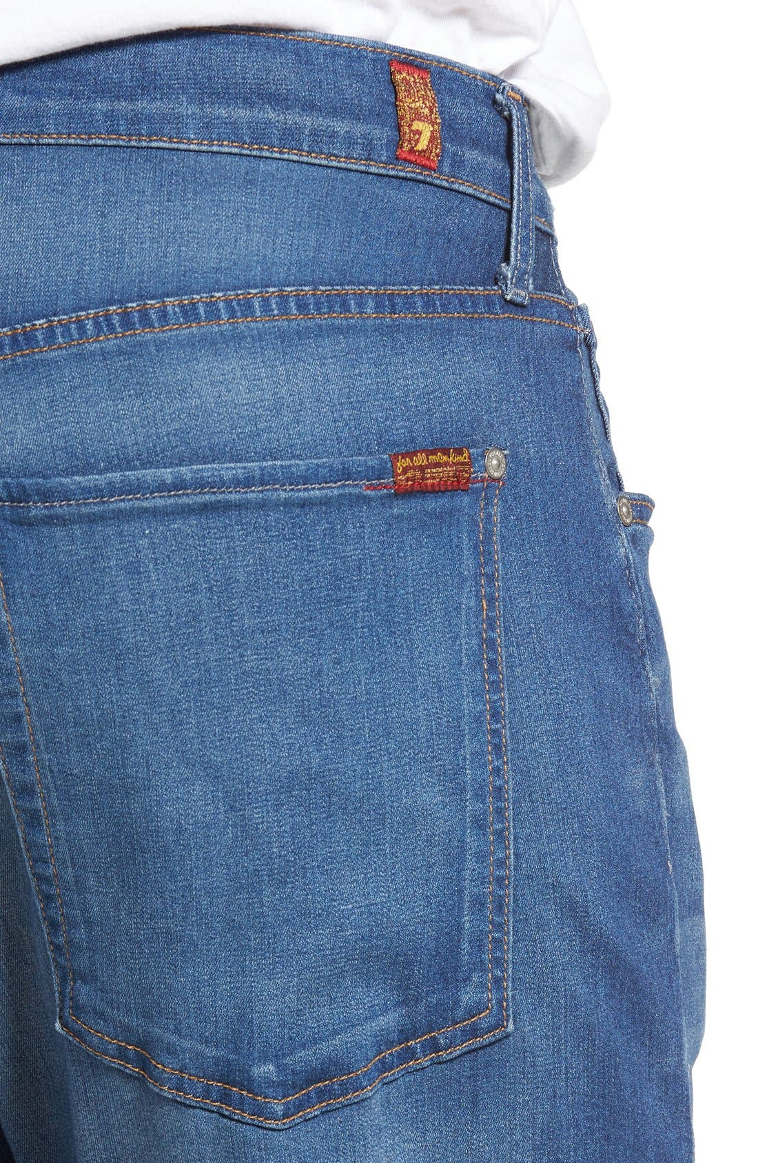 The Straight Luxe Performance Slim Straight Leg Jeans,                             Alternate thumbnail 3, color,