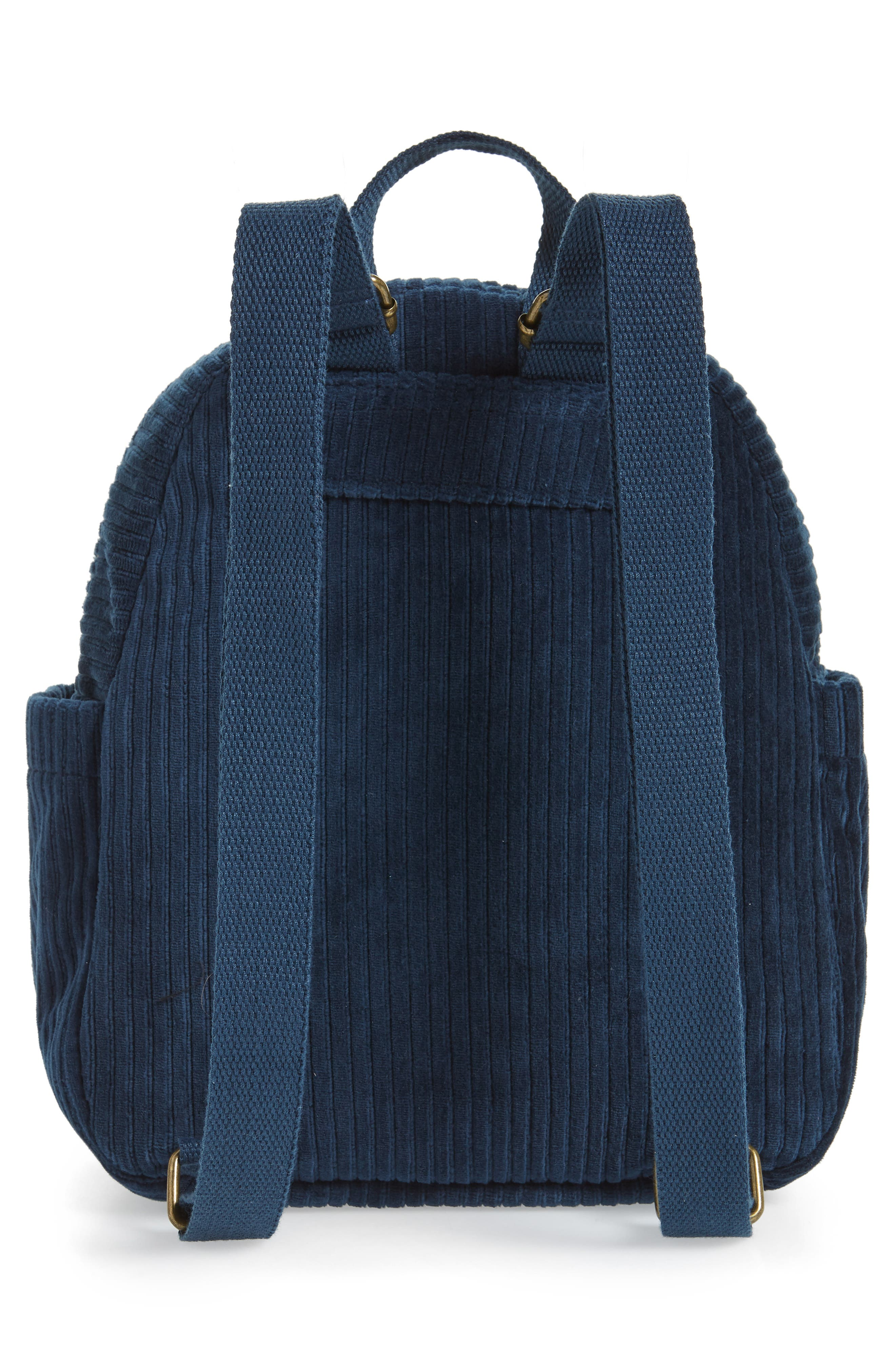 Corduroy Mini Backpack,                             Alternate thumbnail 3, color,                             440