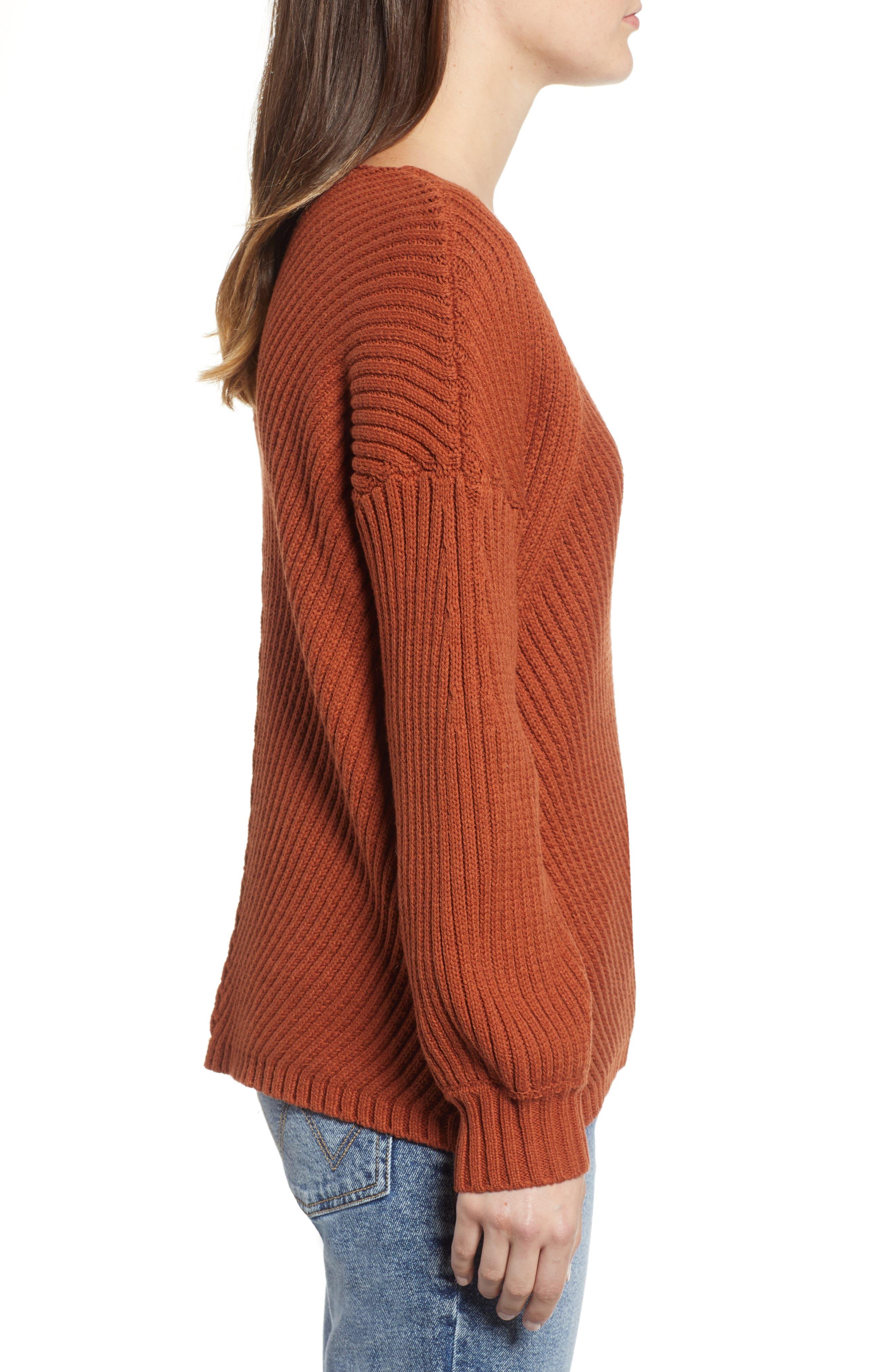 Eleanor Rib Knit Sweater,                             Alternate thumbnail 3, color,                             200