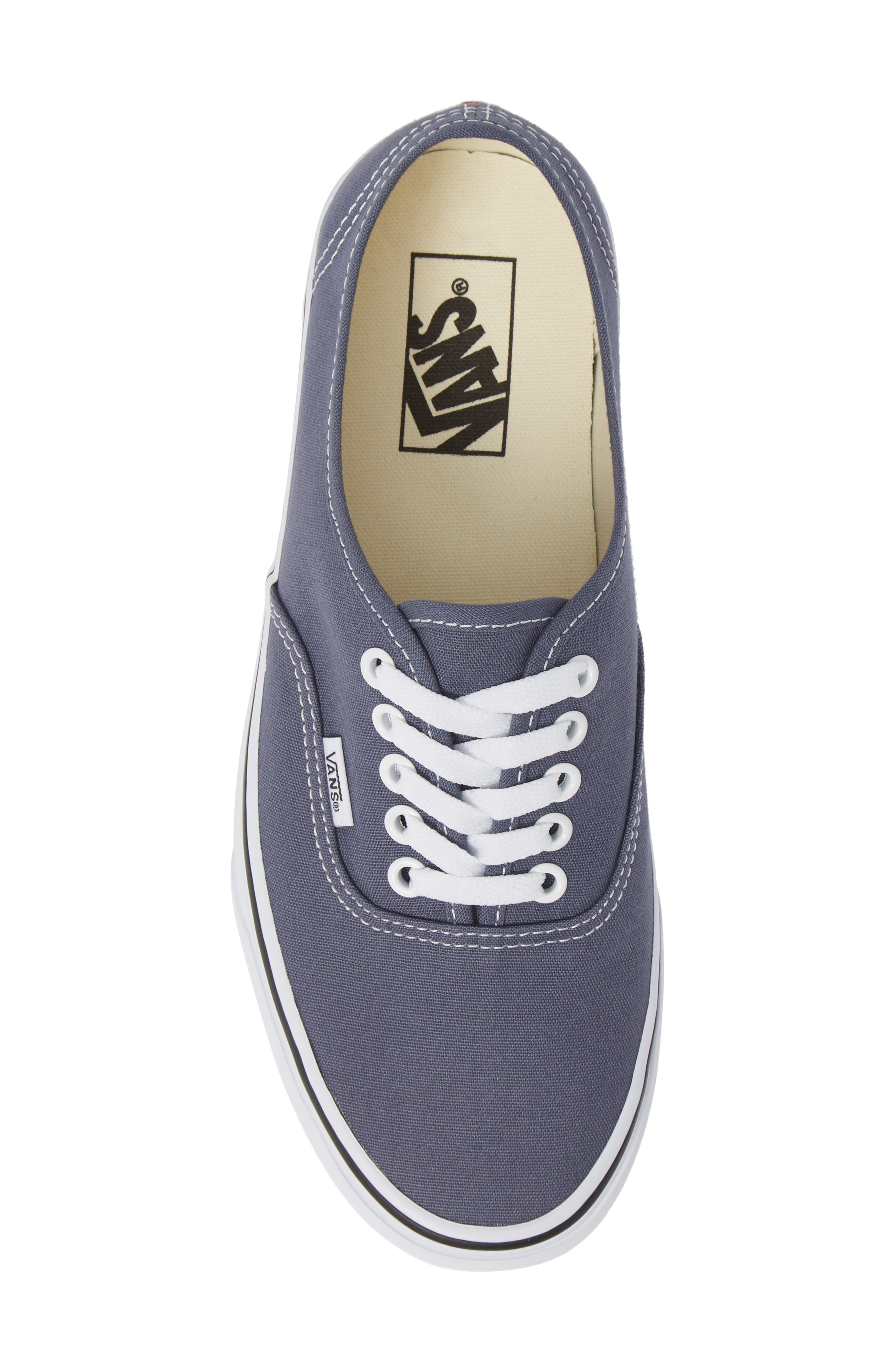 'Authentic' Sneaker,                             Alternate thumbnail 5, color,                             GREY/ TRUE WHITE