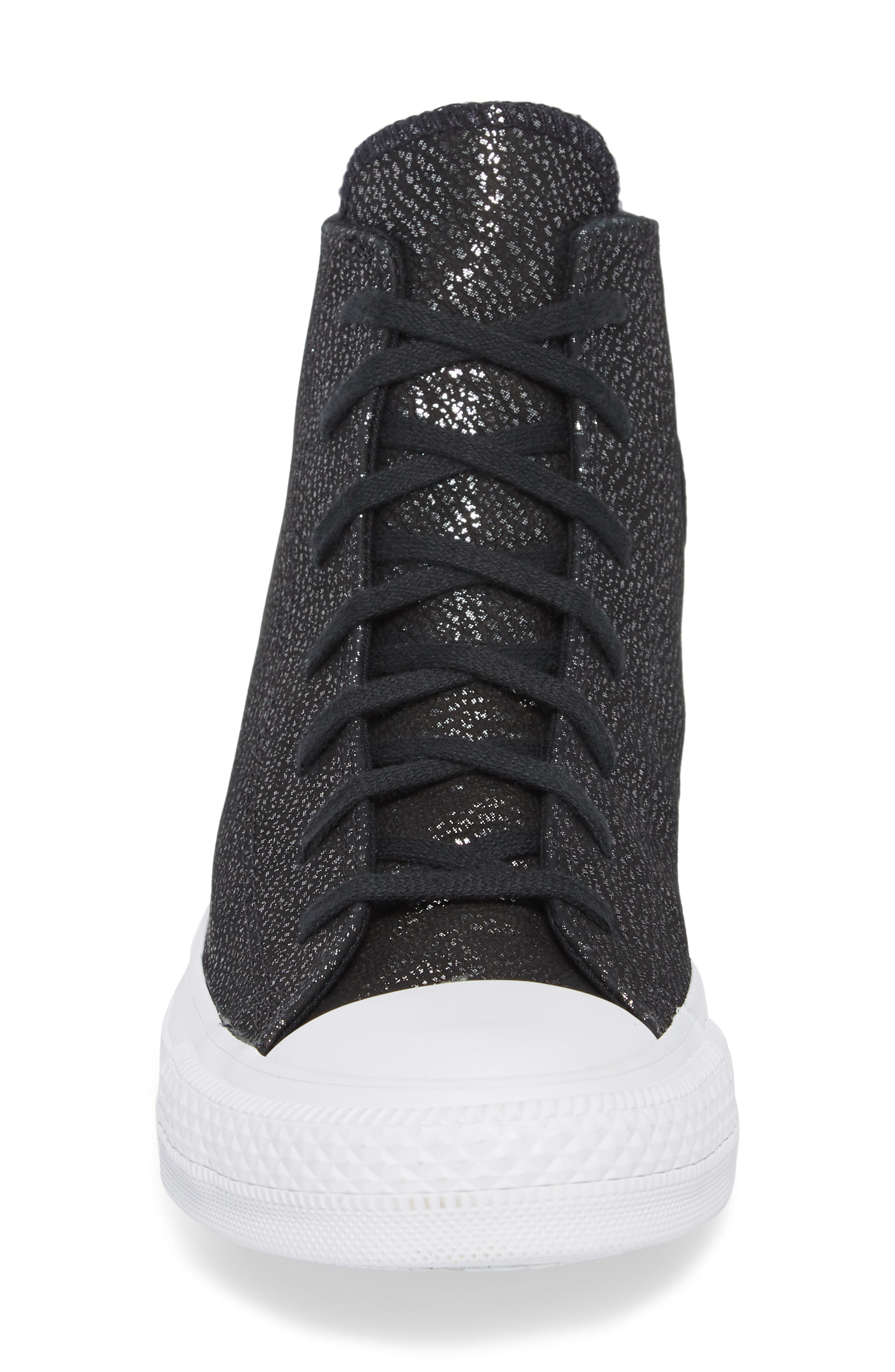 Chuck Taylor<sup>®</sup> All Star<sup>®</sup> Tipped Metallic High Top Sneaker,                             Alternate thumbnail 8, color,