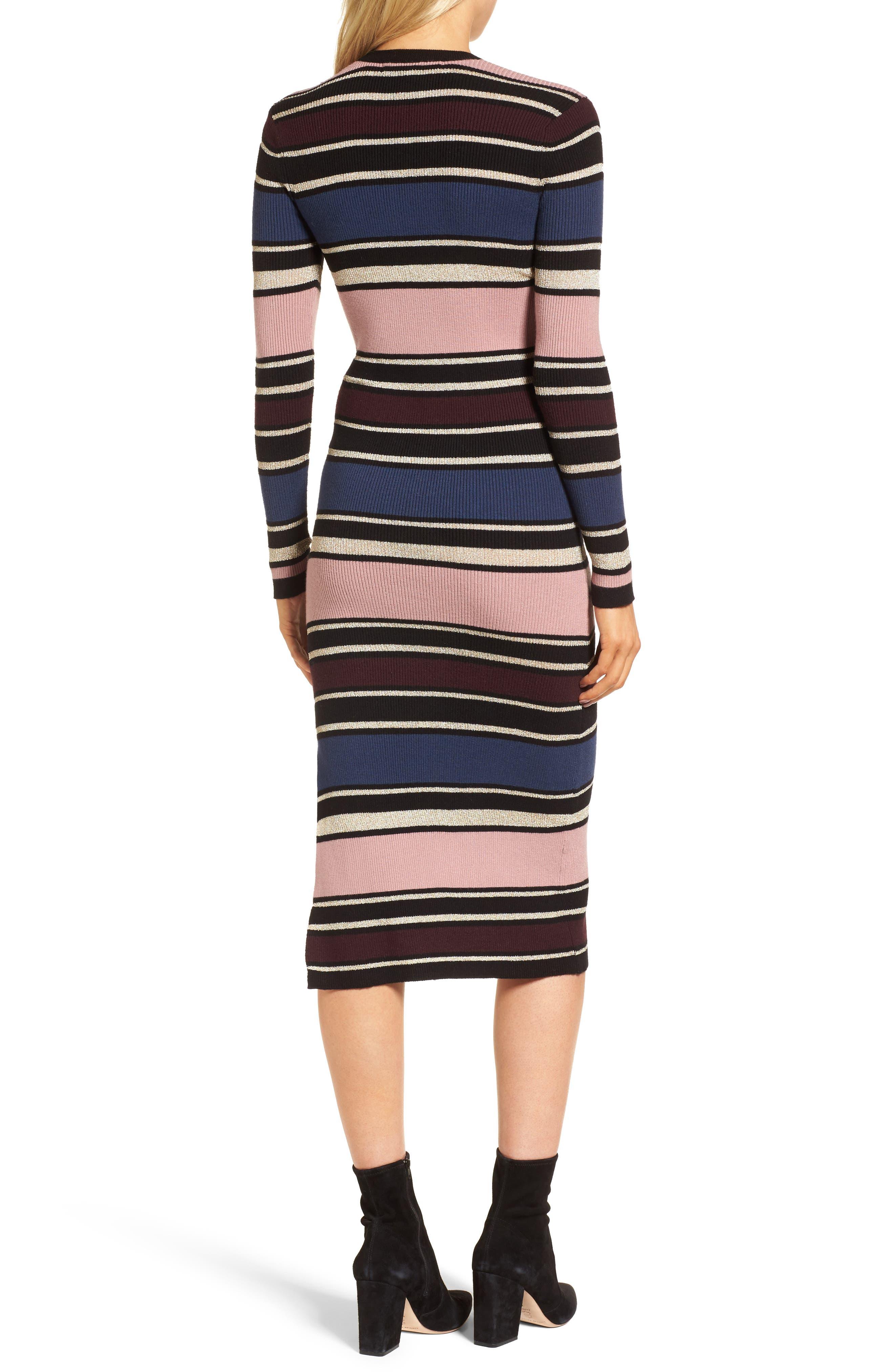 Barrow Stripe Midi Dress,                             Alternate thumbnail 2, color,                             960