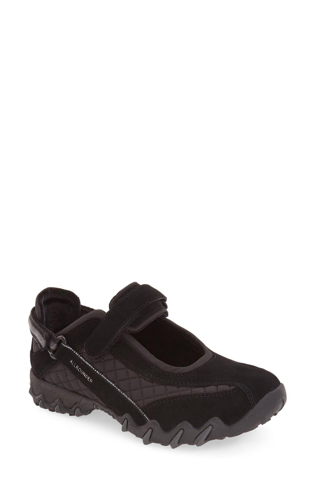 'Niro' Athletic Shoe,                         Main,                         color, BLACK/ BLACK SUEDE