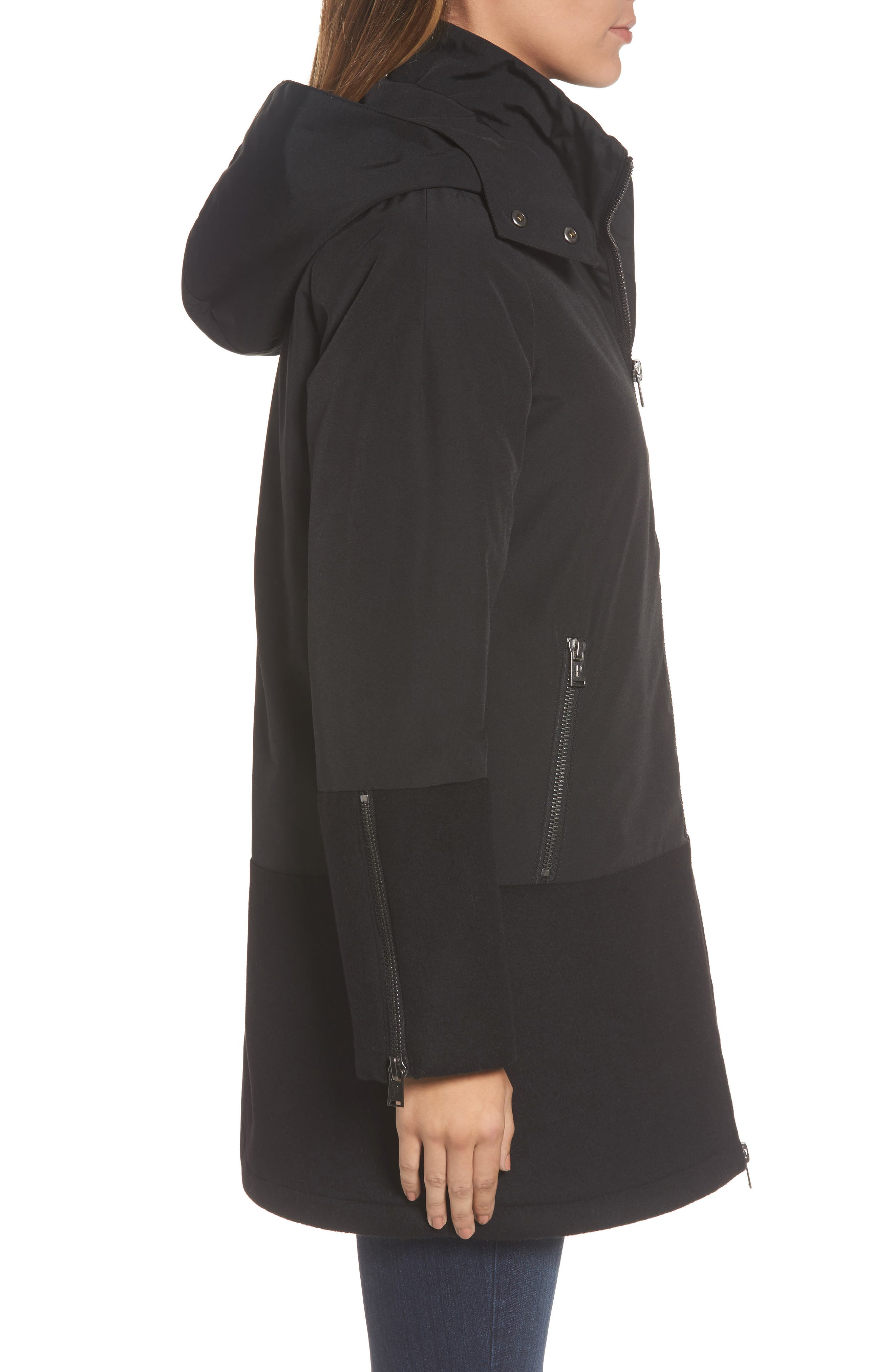 Bellevue Down & Feather Fill Parka,                             Alternate thumbnail 3, color,                             001