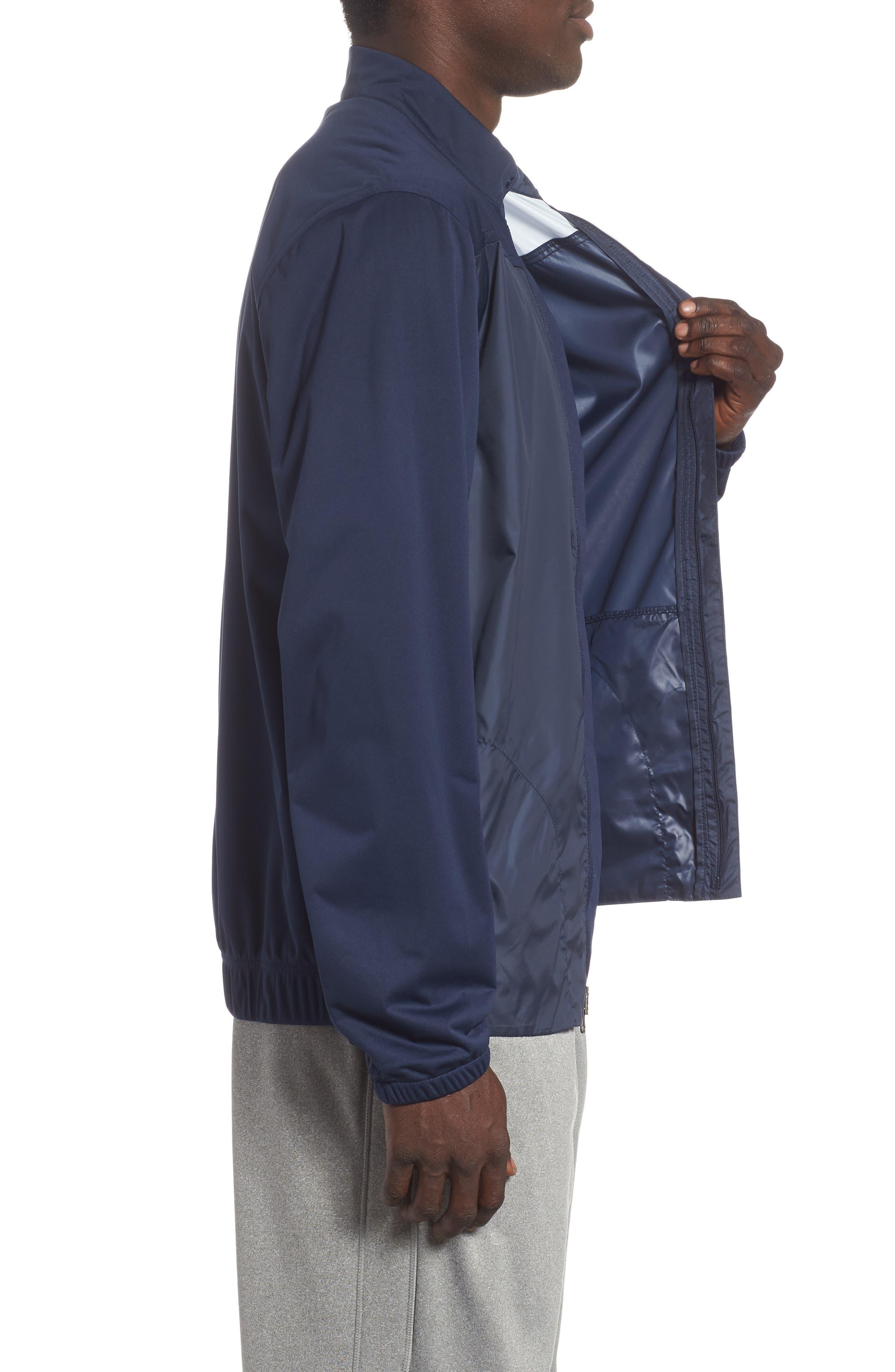 Shield Core Zip Golf Jacket,                             Alternate thumbnail 3, color,                             OBSIDIAN/ OBSIDIAN/ BLACK