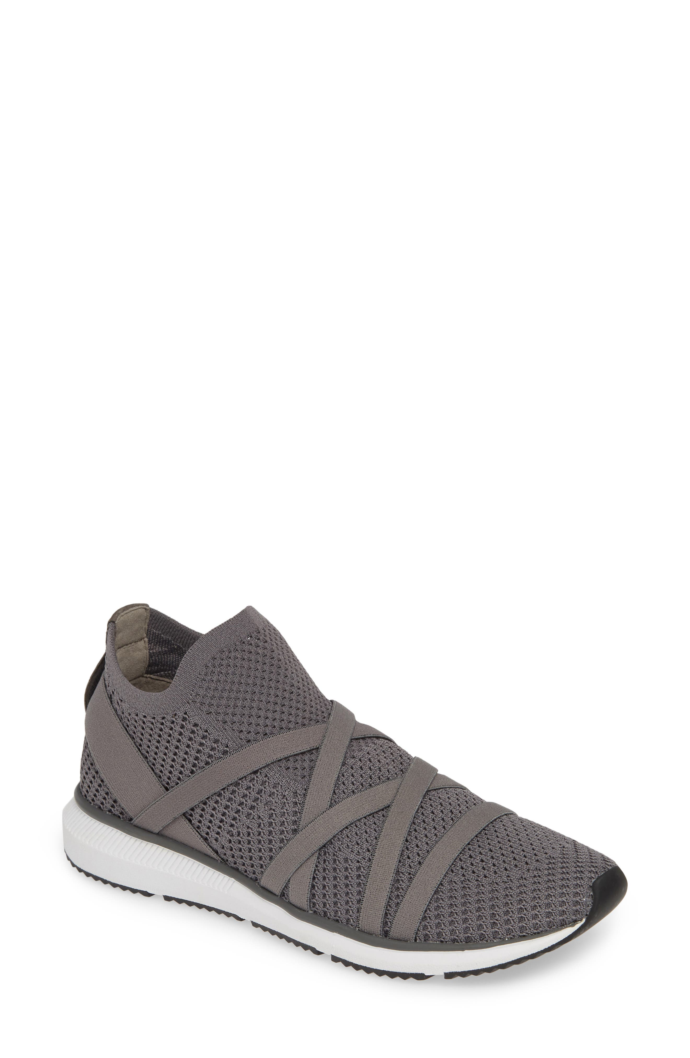 EILEEN FISHER Xanady Woven Slip-On Sneaker, Main, color, GRAPHITE FABRIC