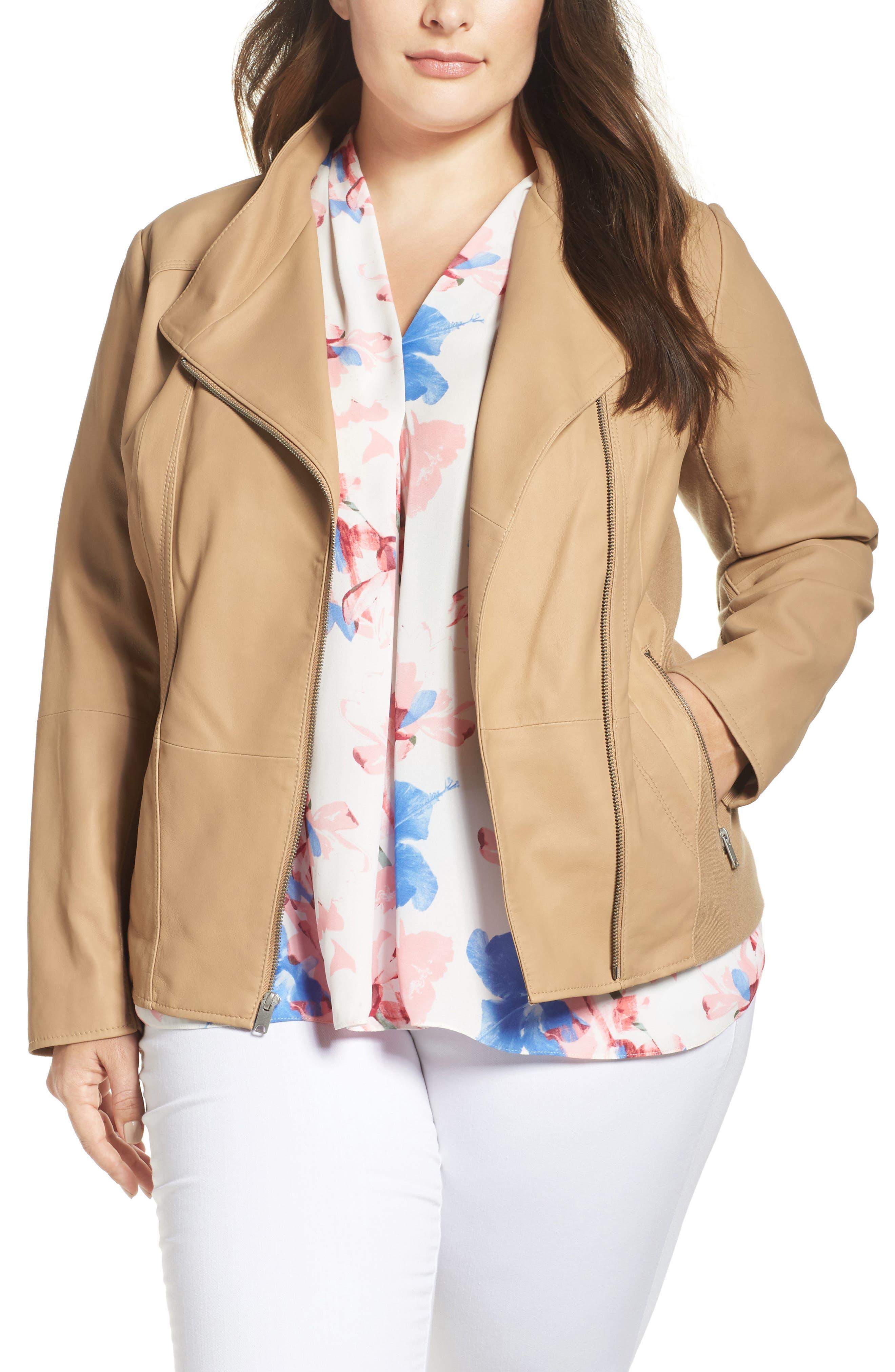 Felicia Leather Moto Jacket,                         Main,                         color,