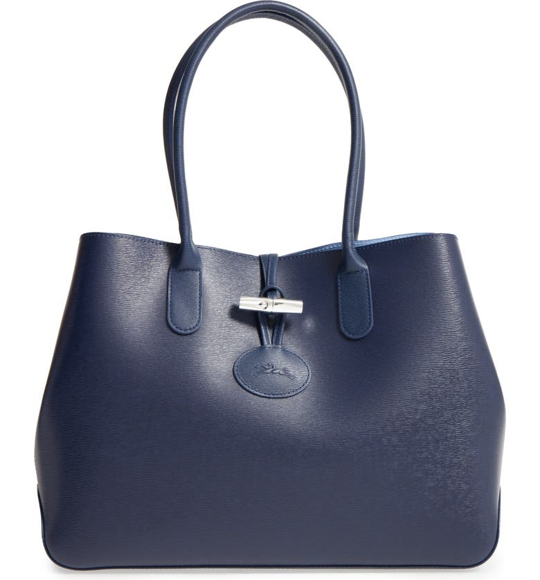 931feaa977b4 Longchamp Roseau Leather Shoulder Tote