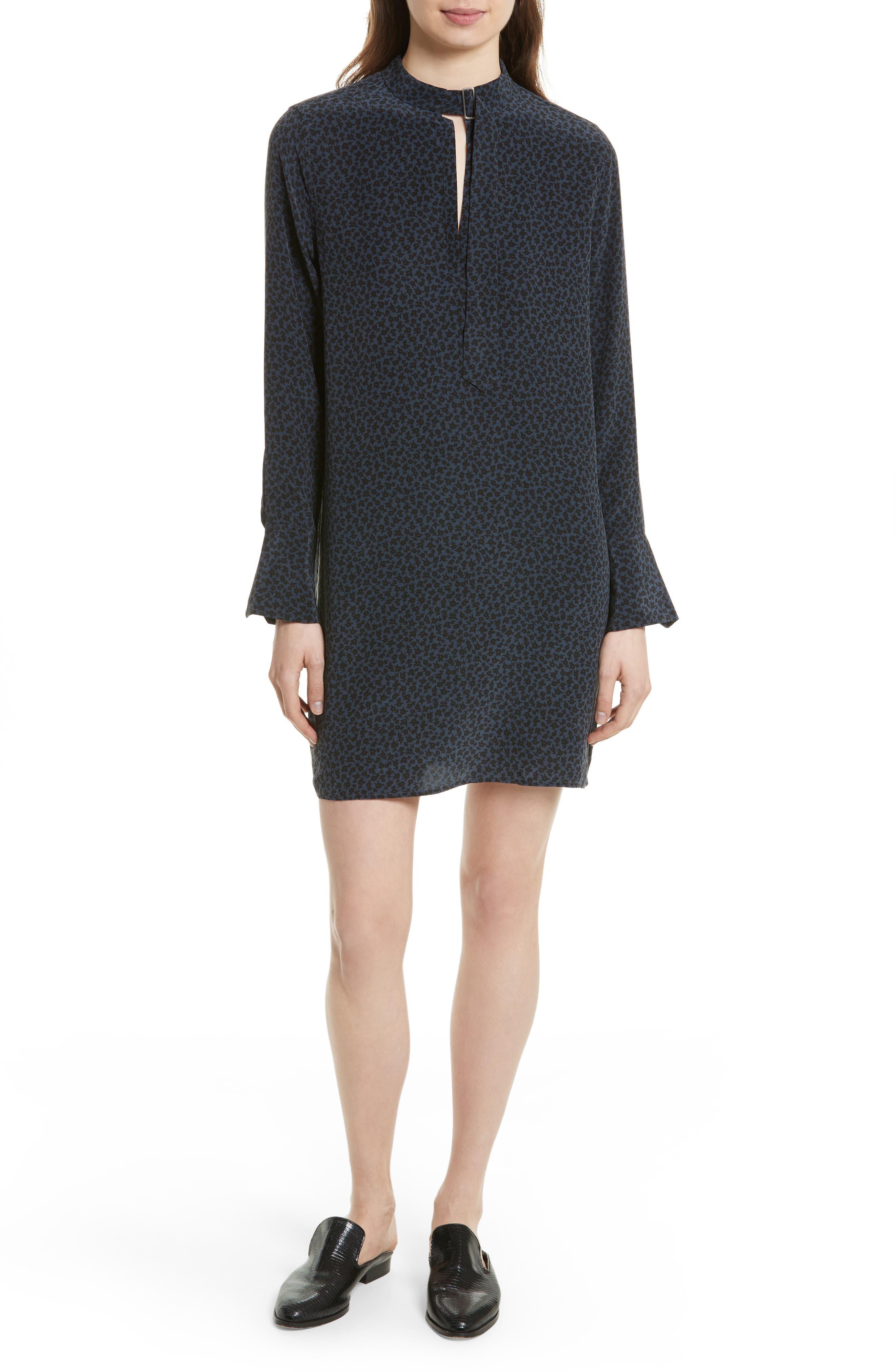 Condence Silk Shift Dress,                             Main thumbnail 1, color,                             466